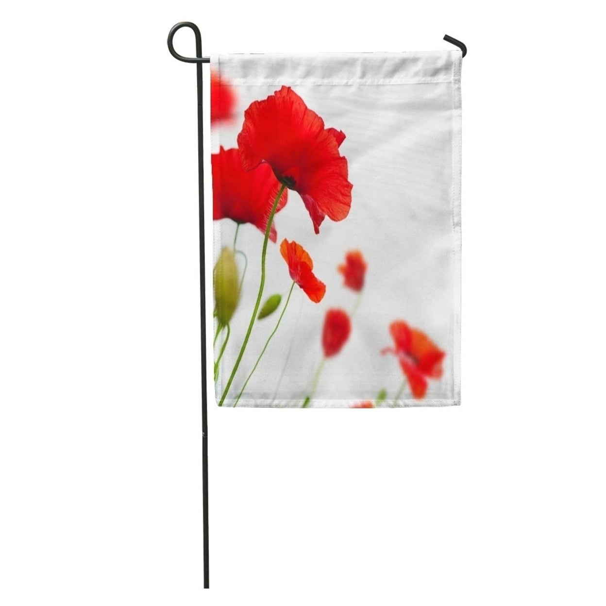 Green Flower Many Red Poppies Angle Of Page Poppy Field Wild Garden Flag Decorative Flag House Banner 28X40 Inch For Wilde Poppies Ceramic Garden Stools (View 15 of 25)