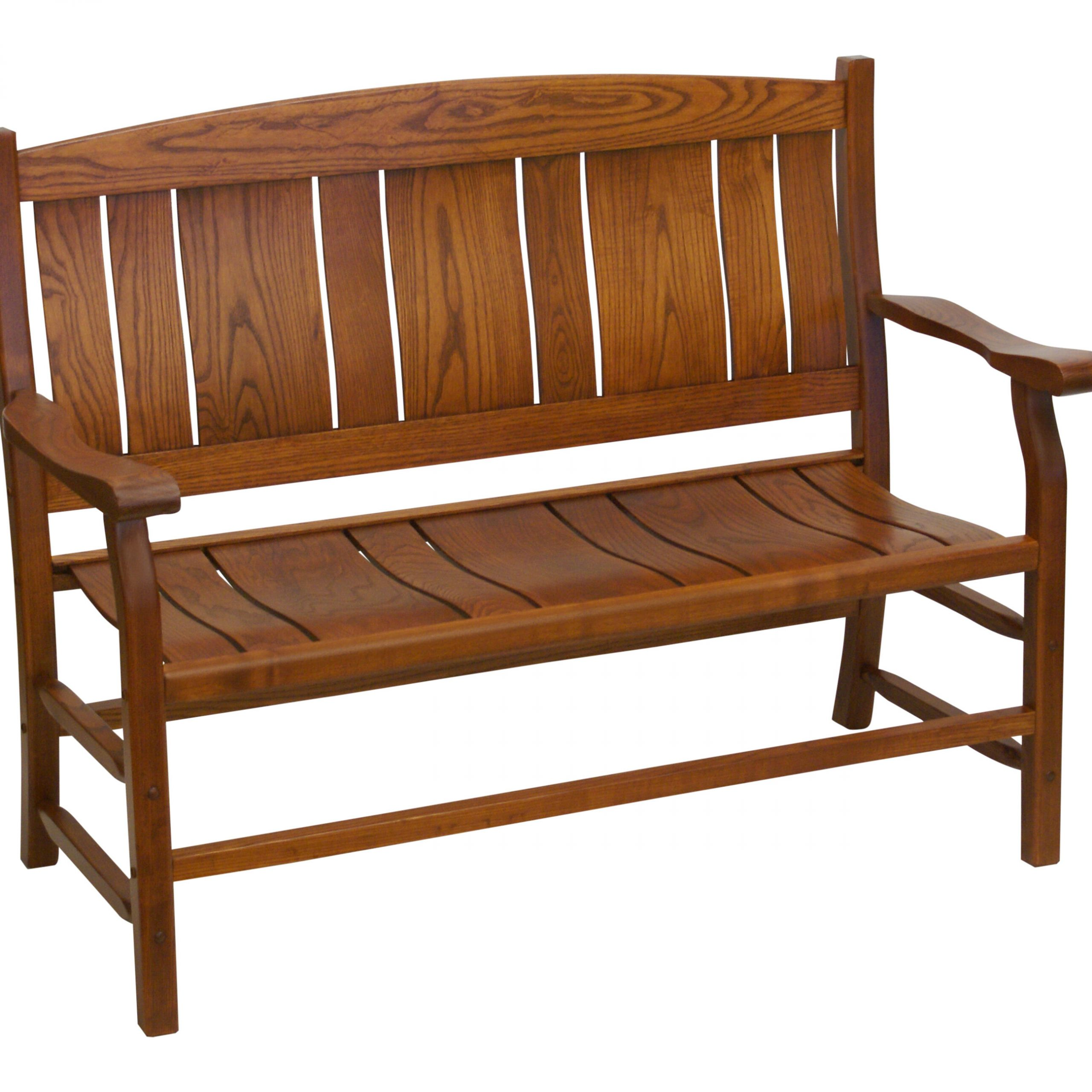 Grindle Slat Back Wooden Garden Bench Inside Leora Wooden Garden Benches (View 20 of 25)