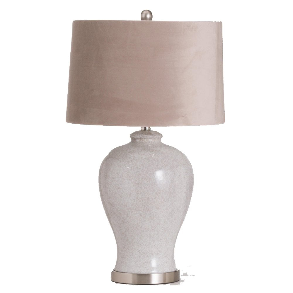 Hadley Ceramic Table Lamp With Natural Shade With Regard To Kelston Ceramic Garden Stools (View 24 of 25)