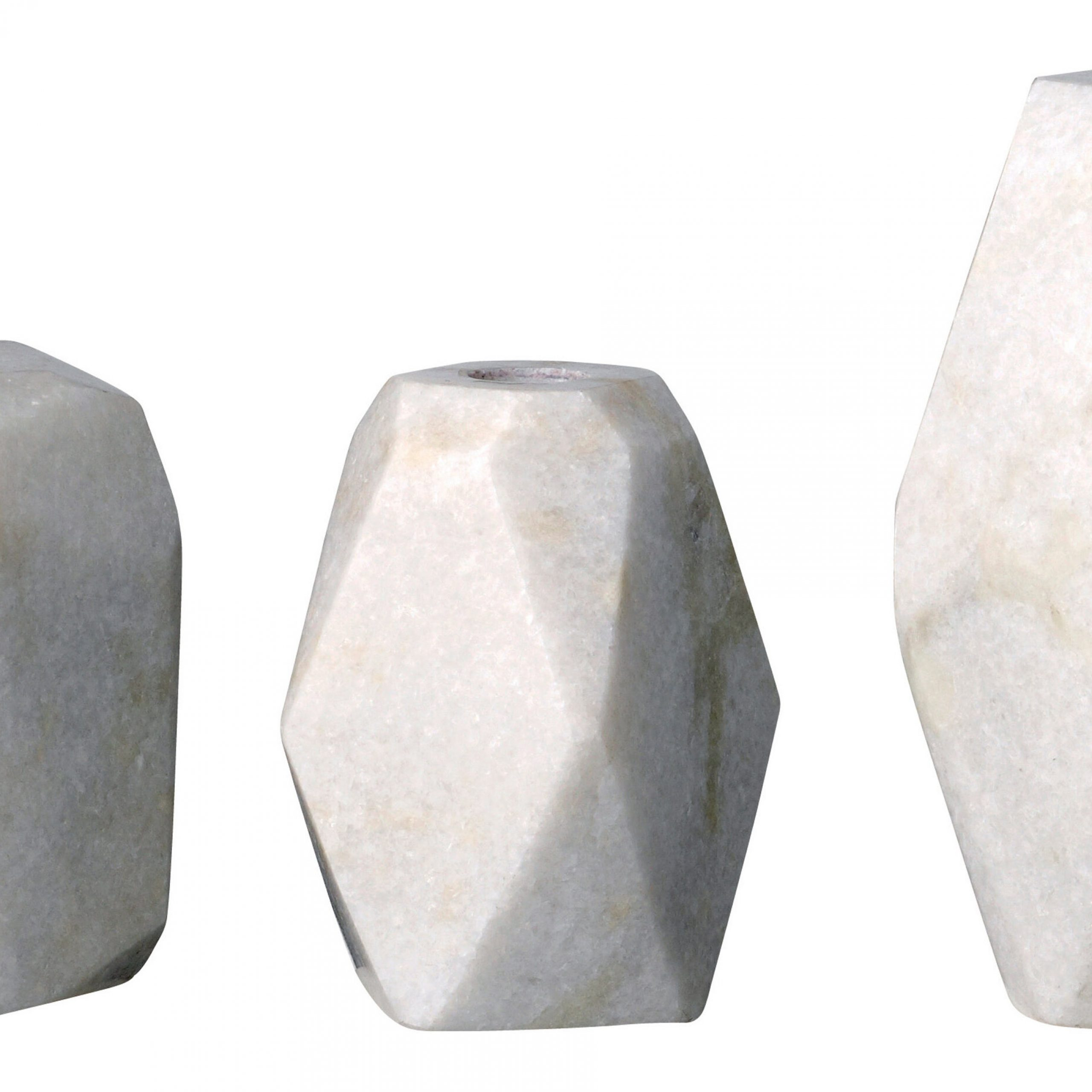 Harwich 3 Piece Stone Candlestick Set Within Harwich Ceramic Garden Stools (View 21 of 25)