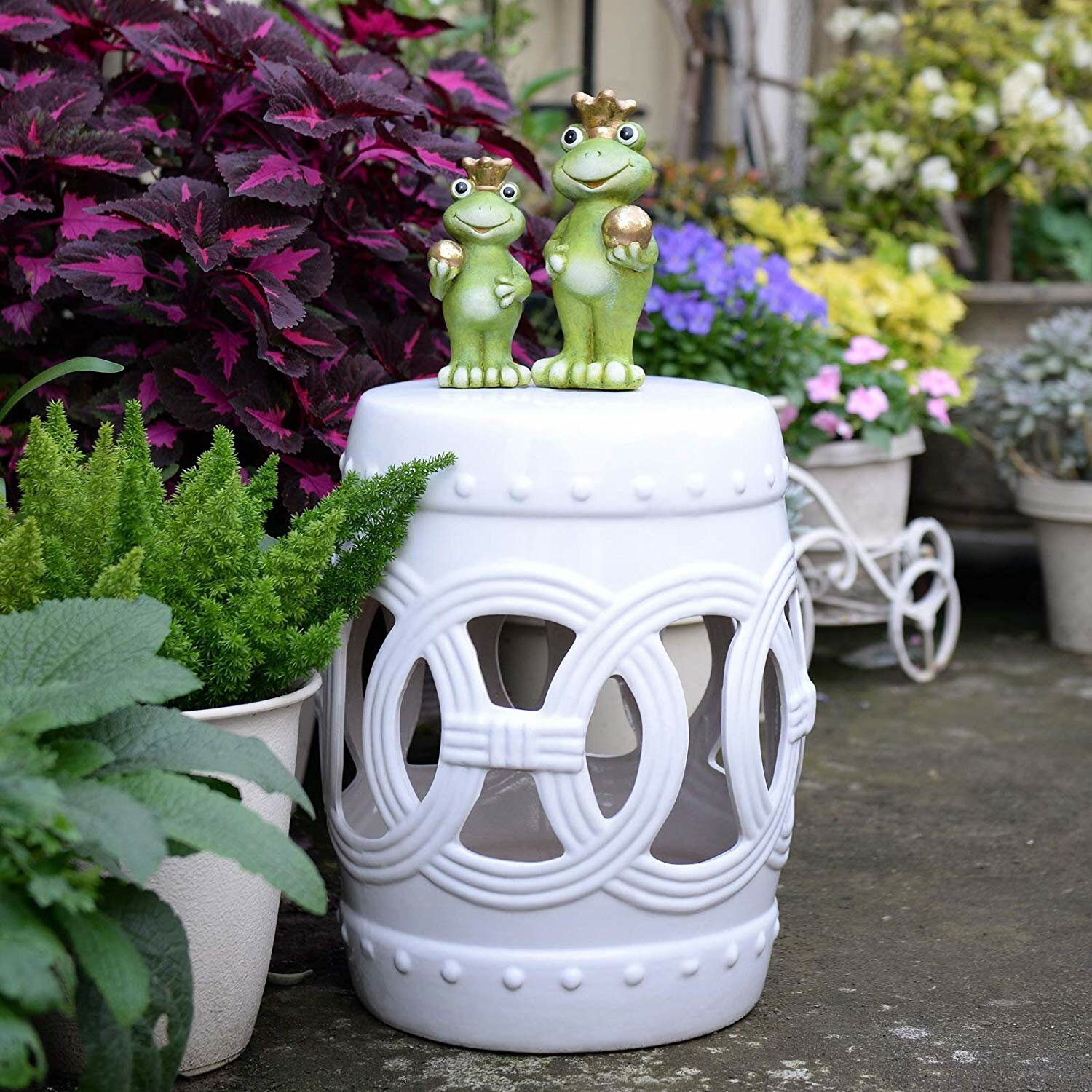 Harwich Ceramic Knotted Rings Garden Stool With Harwich Ceramic Garden Stools (View 2 of 25)