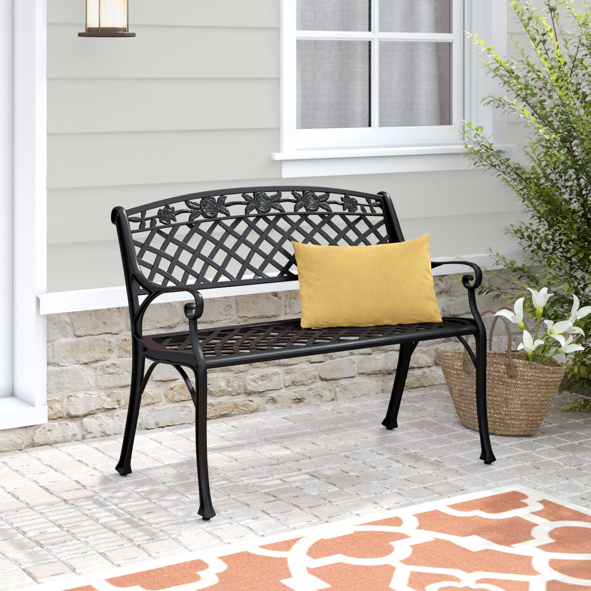 Hollander Metal Garden Bench Pertaining To Cavin Garden Benches (View 19 of 25)