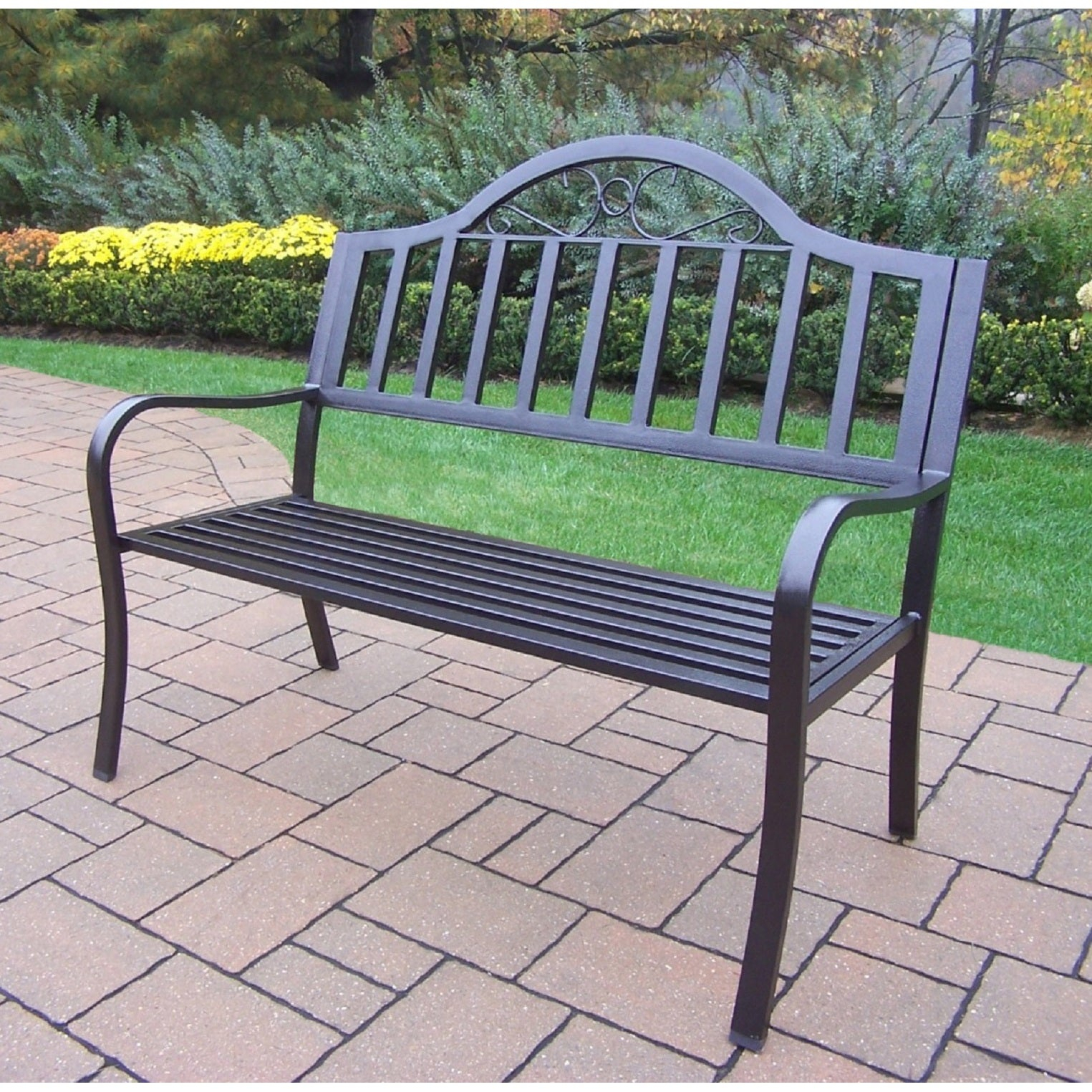 Hometown Wrought Iron Bench Intended For Celtic Knot Iron Garden Benches (Photo 23 of 25)