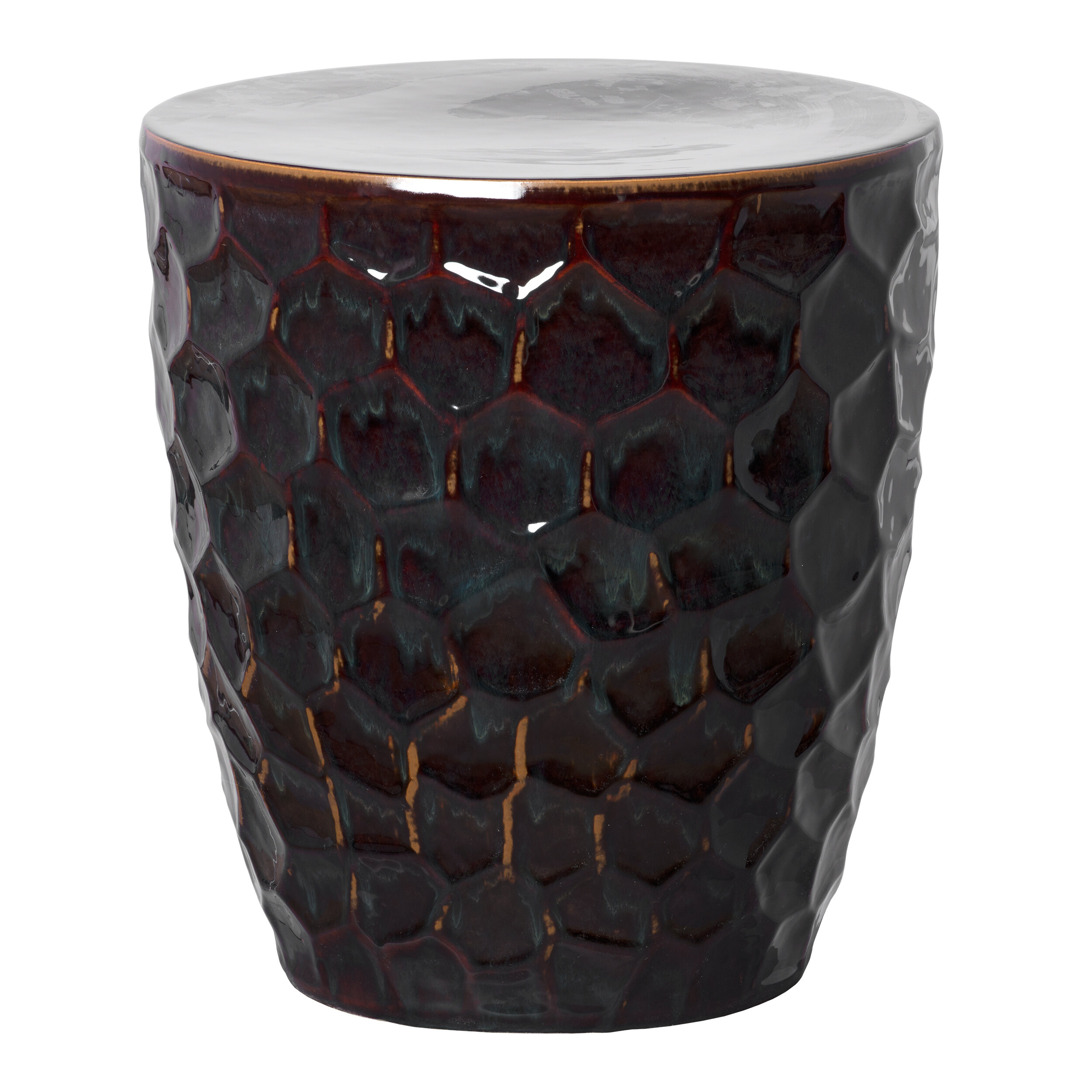 Honeycomb Garden Stool For Fifi Ceramic Garden Stools (View 11 of 25)
