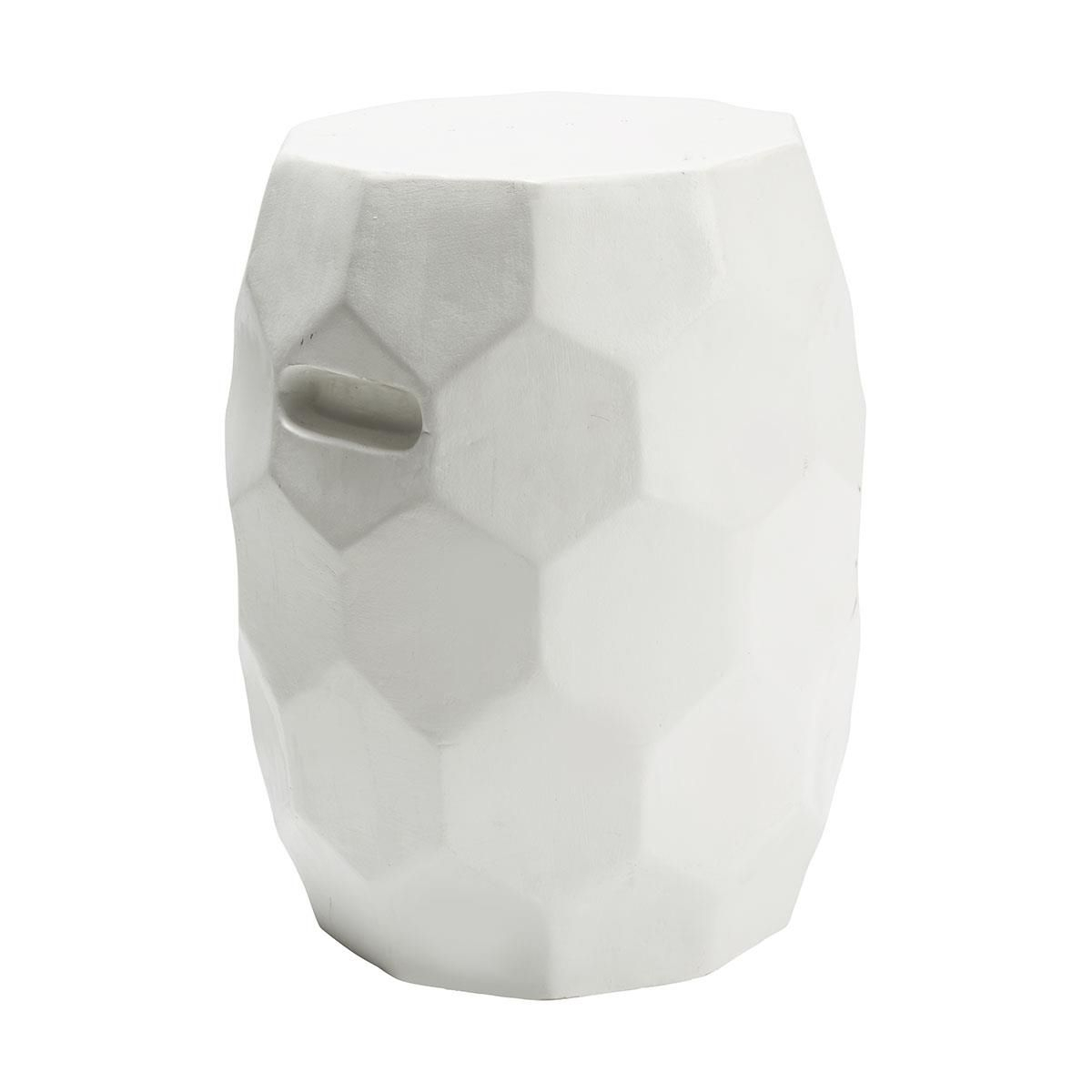 Honeycomb Garden Stool – White | Kmart | Garden Stool Within Murphy Ceramic Garden Stools (View 24 of 25)