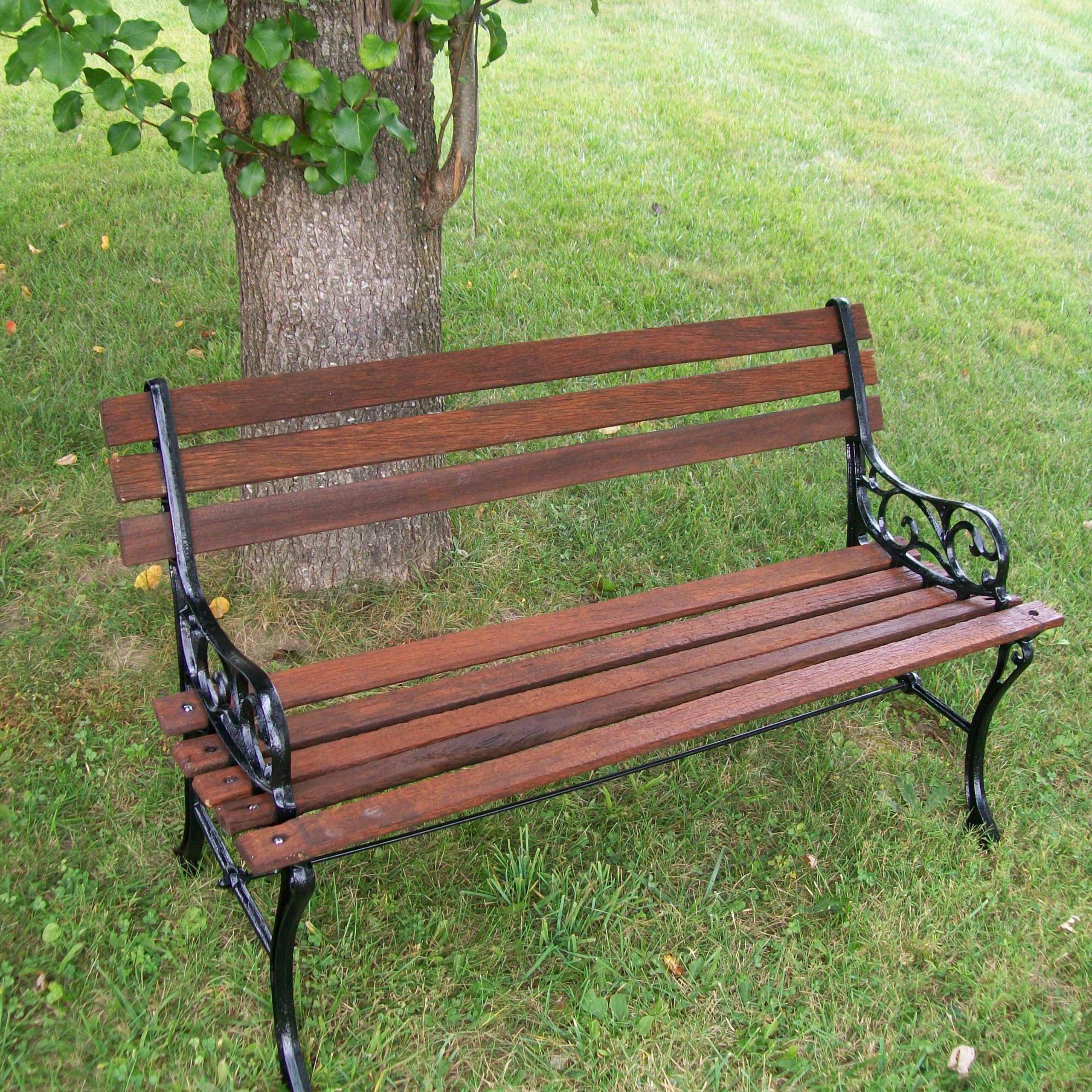 How To Restore A Park Bench | Park Bench, Bench, Garden Bench Regarding Michelle Metal Garden Benches (View 19 of 25)