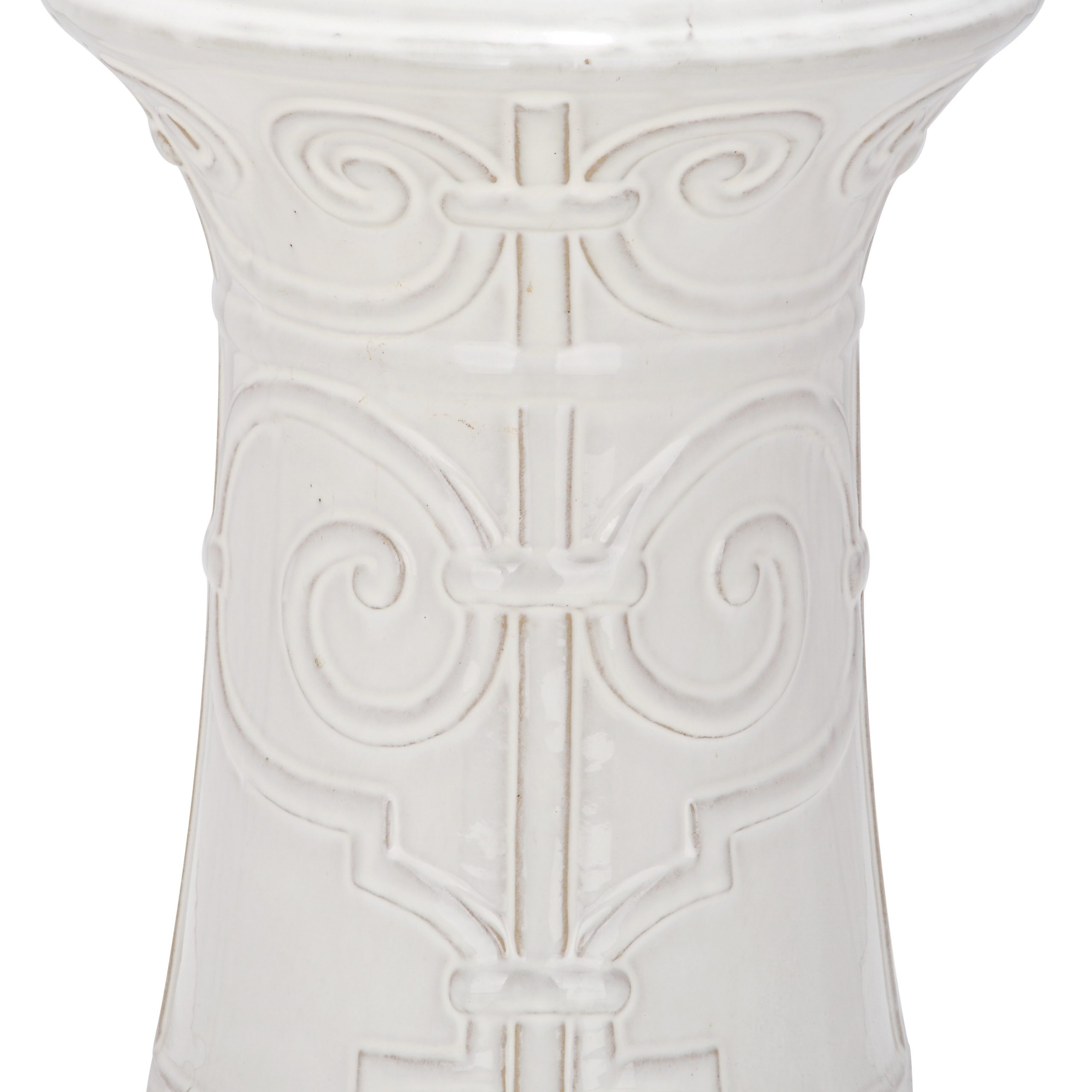 Imperial Scroll Ceramic Garden Stool Pertaining To Janke Floral Garden Stools (View 18 of 25)