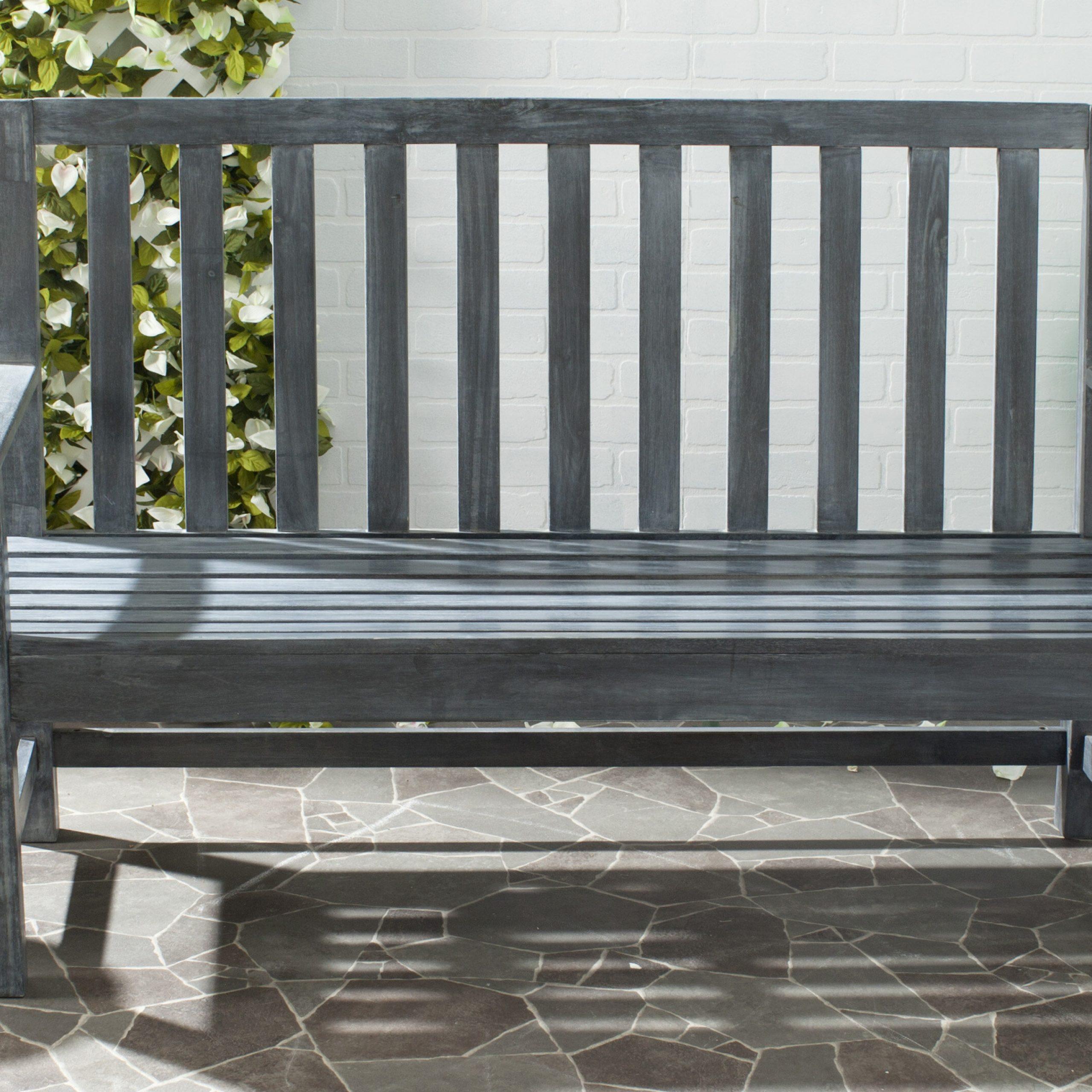 Indaka Acacia Wood Garden Bench With Harpersfield Wooden Garden Benches (View 10 of 25)