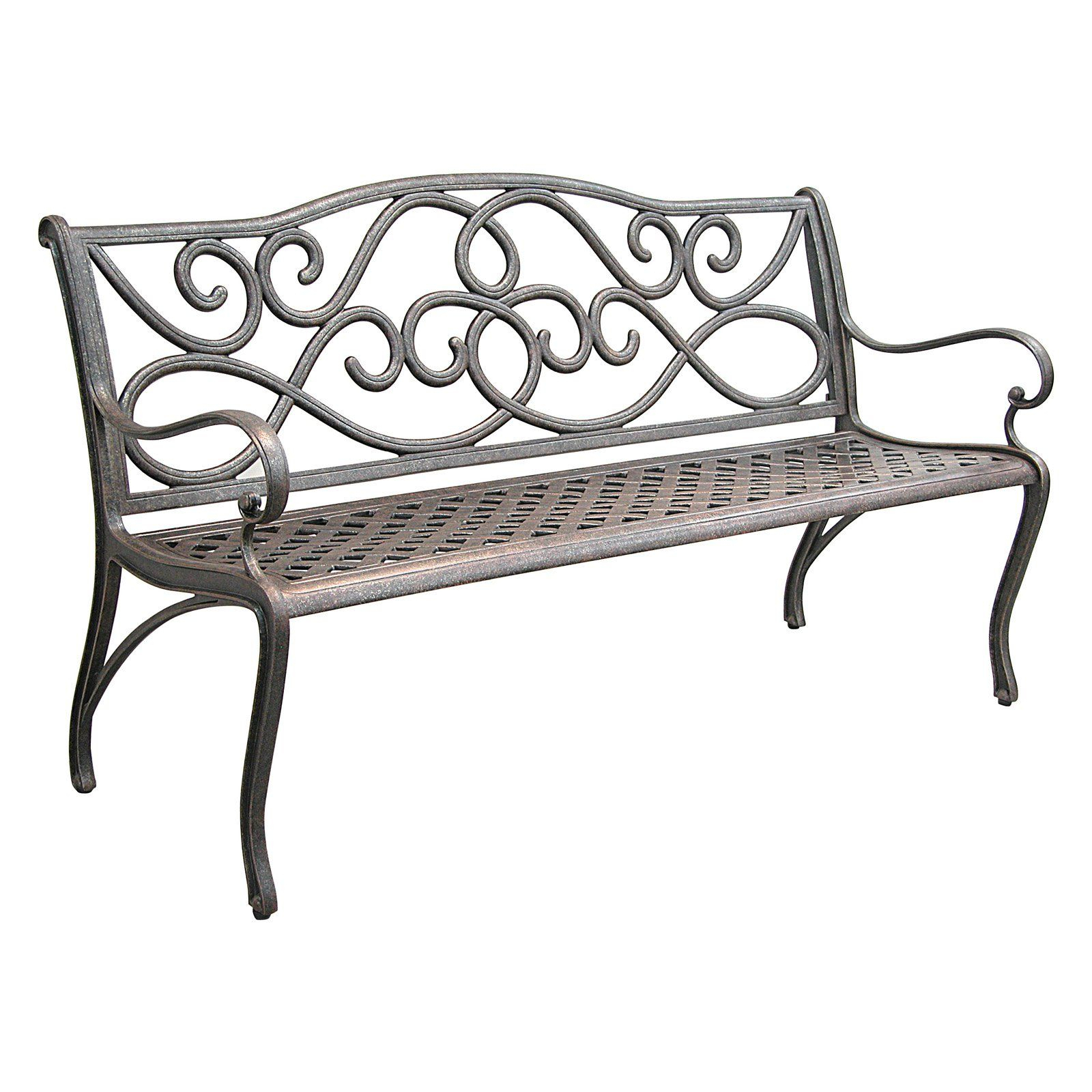 Innova 5 Ft. Scroll Cast Aluminum Bench | Www (View 5 of 25)