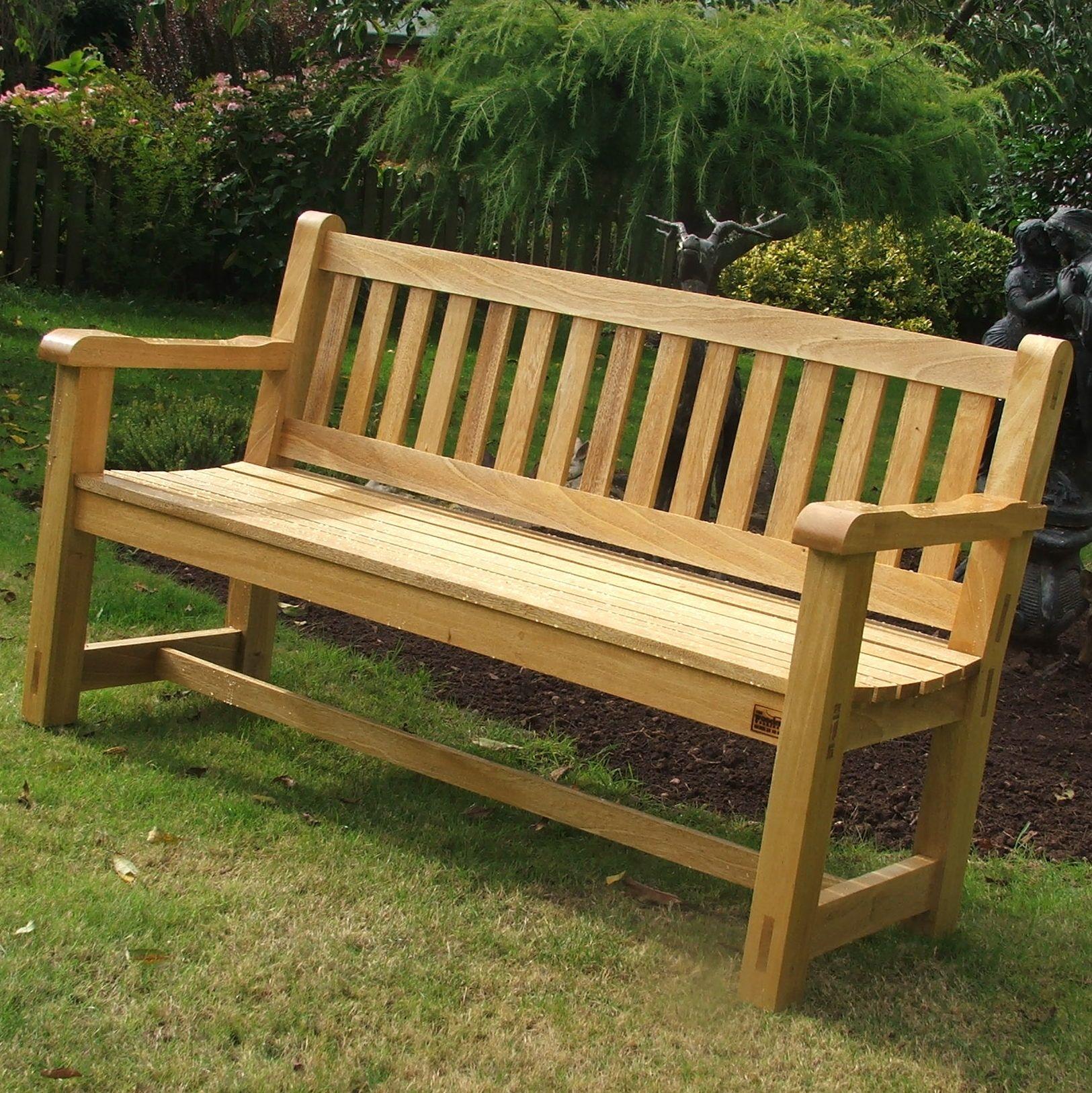Inspiring Wooden Garden Benches #2 Wooden Garden Bench Intended For Coleen Outdoor Teak Garden Benches (View 2 of 25)