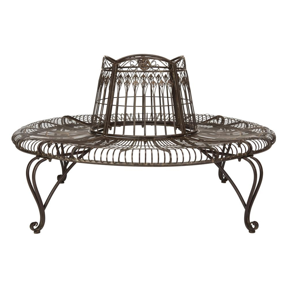 Iron – Industrial – Outdoor Benches – Patio Chairs – The Intended For Wicker Tete A Tete Benches (View 23 of 25)