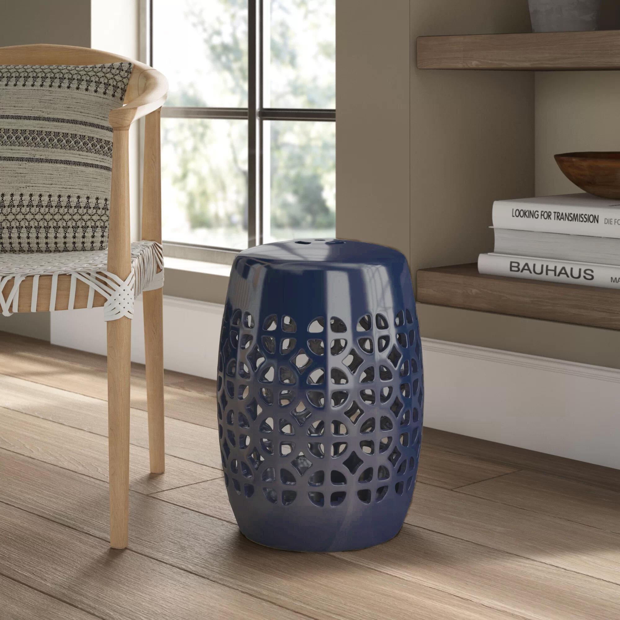 Keswick Ceramic Garden Stool Regarding Tillia Ceramic Garden Stools (View 10 of 25)