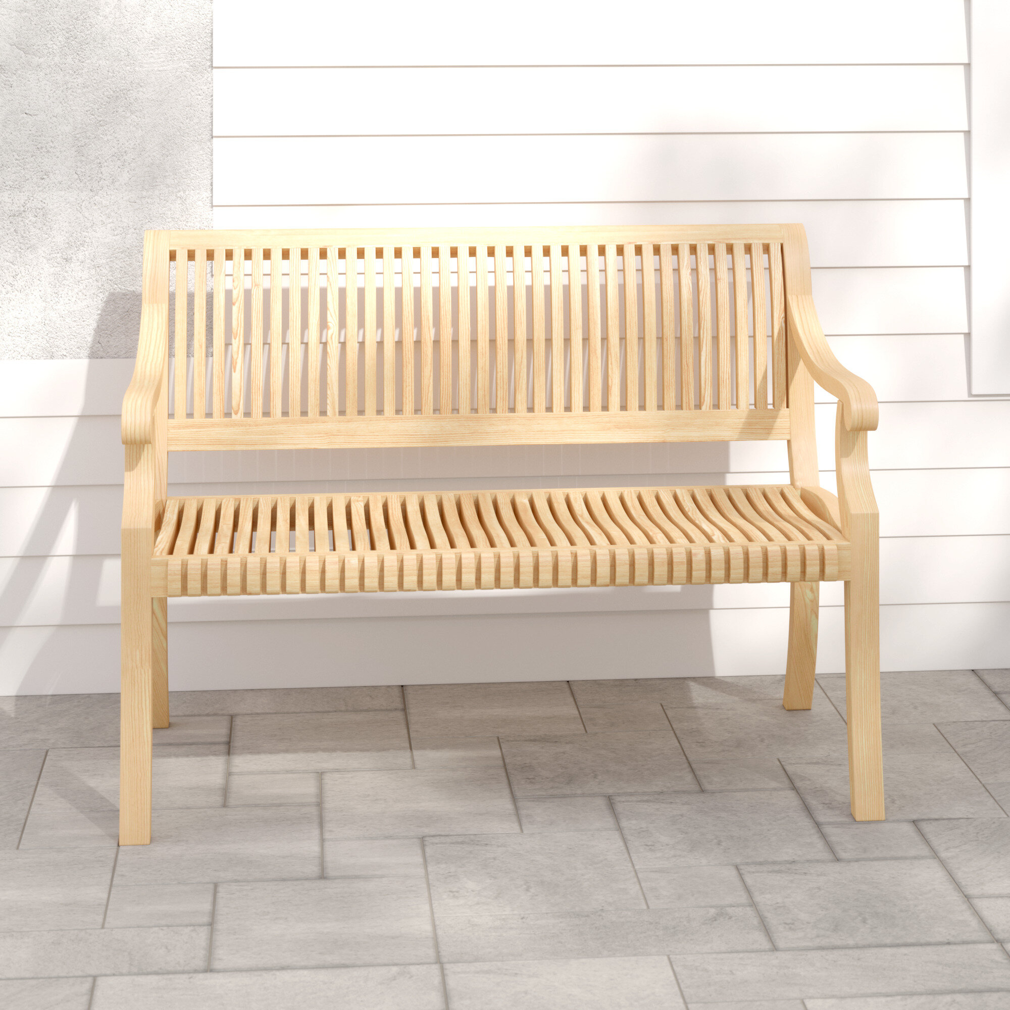 Khari Teak Garden Bench Pertaining To Hampstead Teak Garden Benches (View 11 of 25)