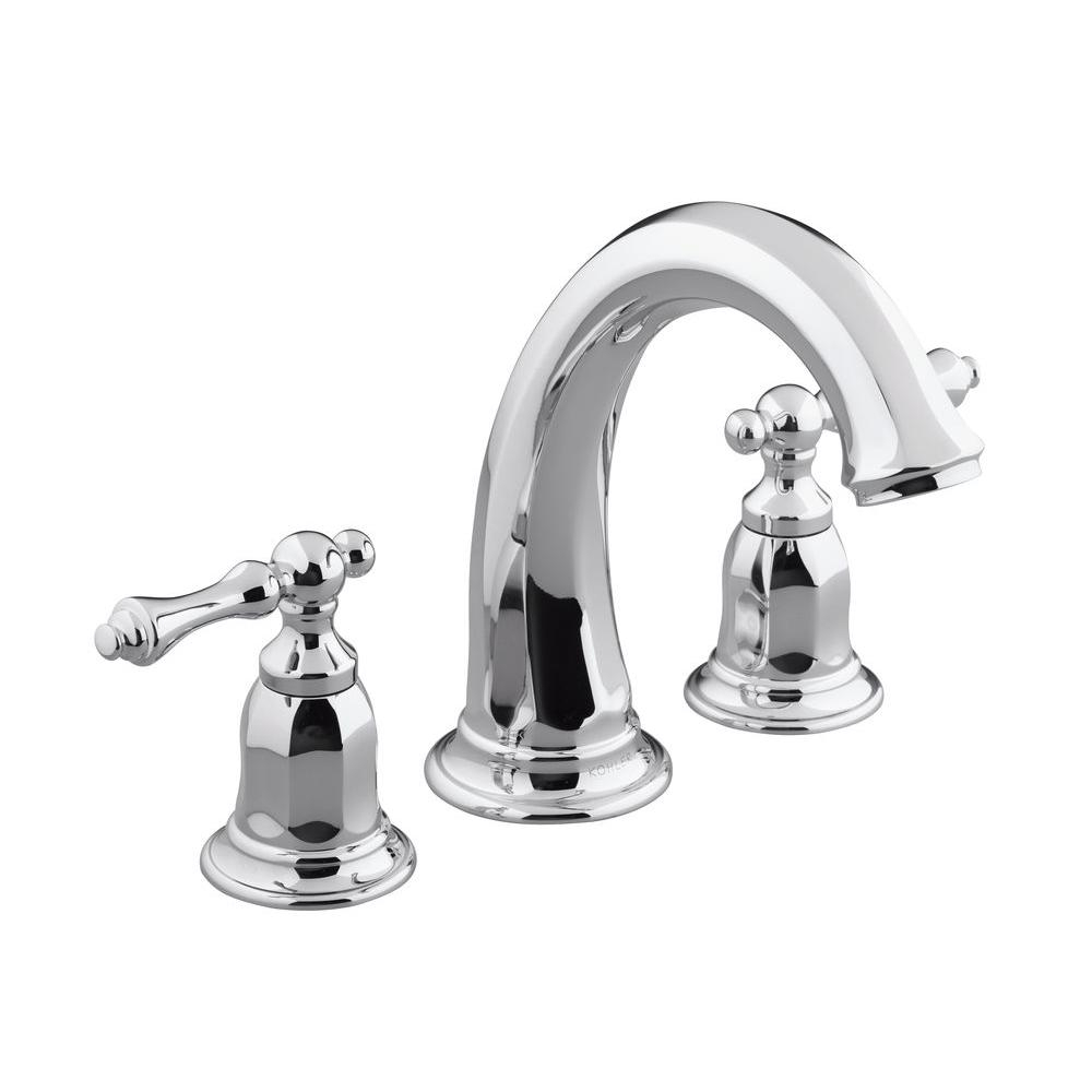 Kohler Kelston 2 Handle Deck Mount Bath Tub Faucet Trim In Polished Chrome (Valve Not Included) K T13494 4 Cp – The Home Depot In Kelston Ceramic Garden Stools (View 21 of 25)