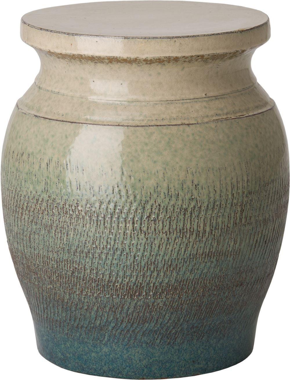 Koji Garden Stool/Table With A Bayside Green Glaze – Em 106 With Aloysius Ceramic Garden Stools (View 14 of 25)