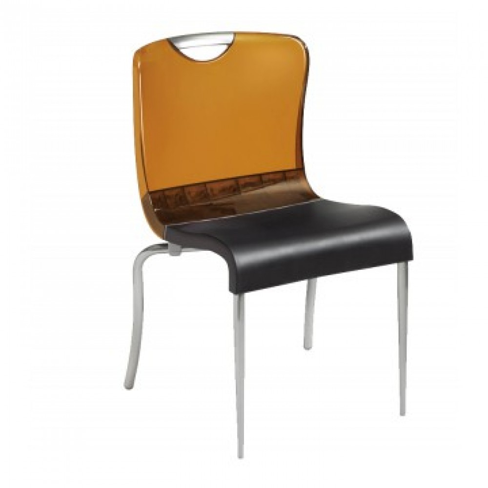 Krystal Stacking Chair Amber – 12/Case Regarding Krystal Ergonomic Metal Garden Benches (View 18 of 25)