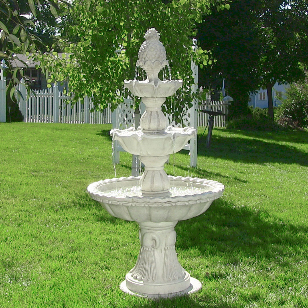 Kujawa Fiberglass Welcome 3 Tier Garden Fountain Within Kujawa Ceramic Garden Stools (View 20 of 25)