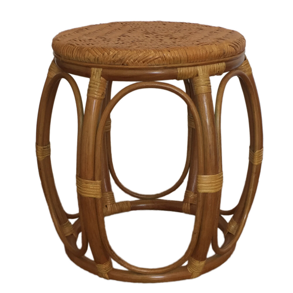 Larry Rattan Wicker Garden Stool Regarding Glendale Heights Birds And Butterflies Garden Stools (View 15 of 25)