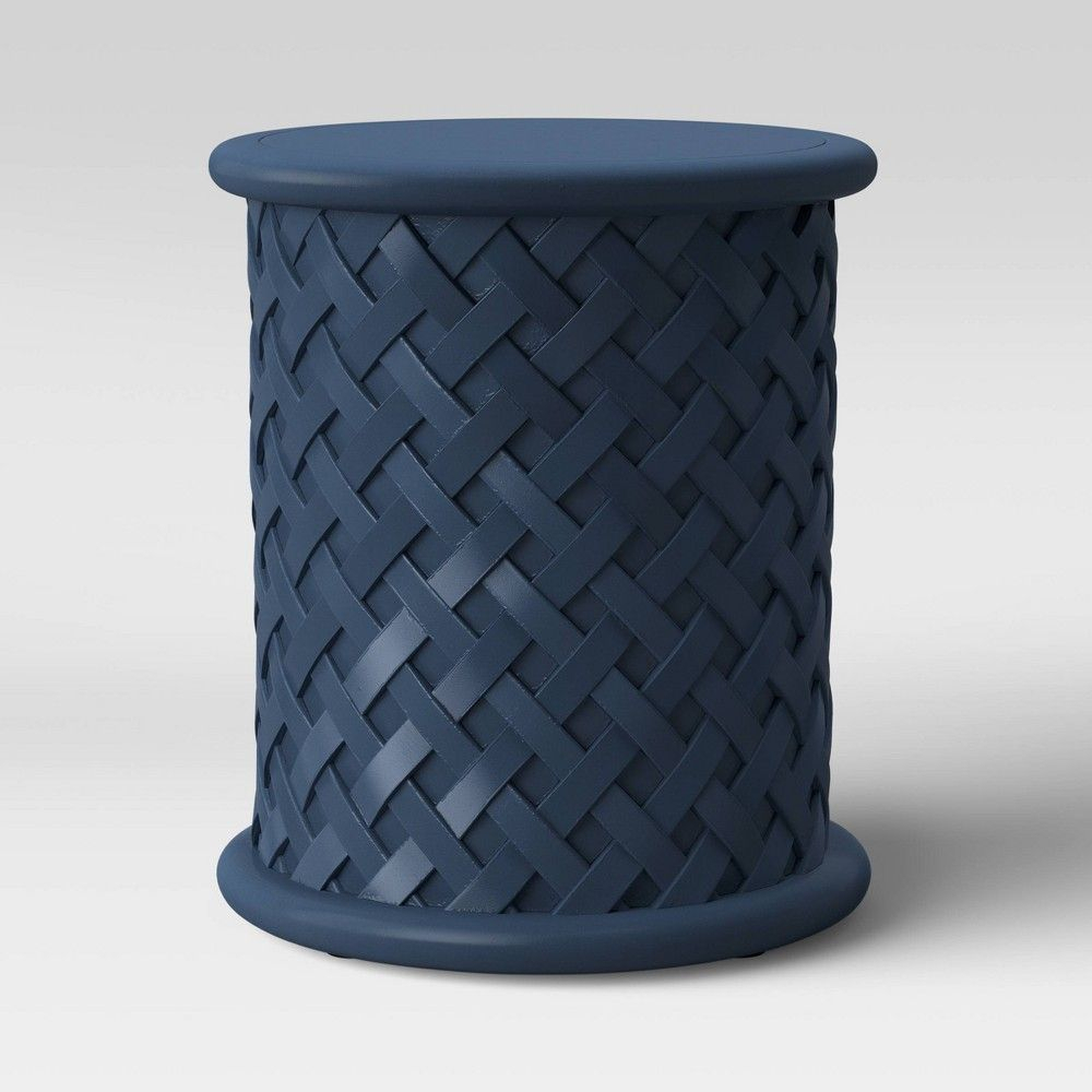 Lattice Patio Accent Table Navy – Threshold™ In 2020 | Patio With Tillia Ceramic Garden Stools (View 5 of 25)