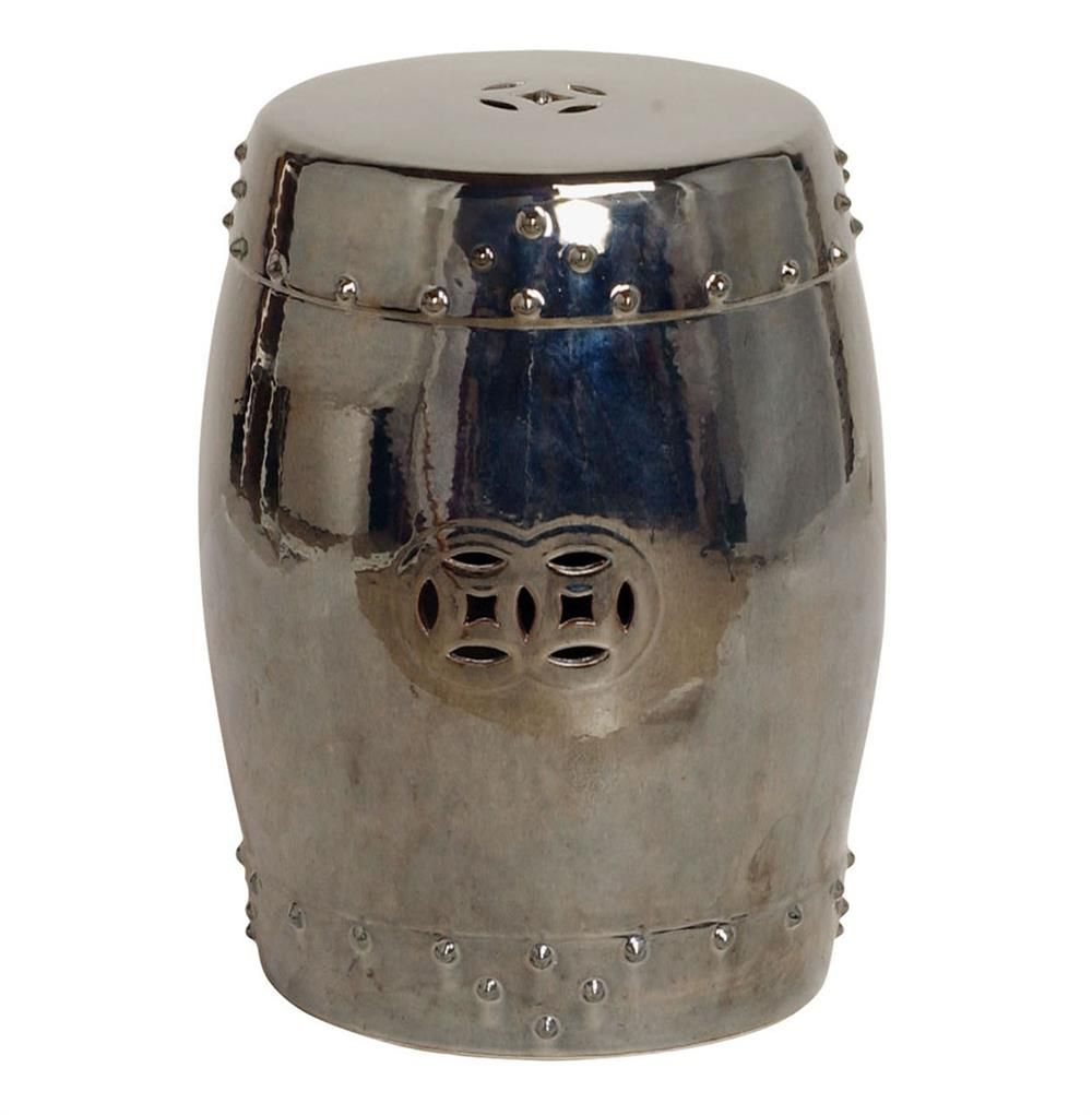 Lattice Stool Gunmetal – Vozeli Pertaining To Engelhardt Ceramic Garden Stools (View 16 of 25)