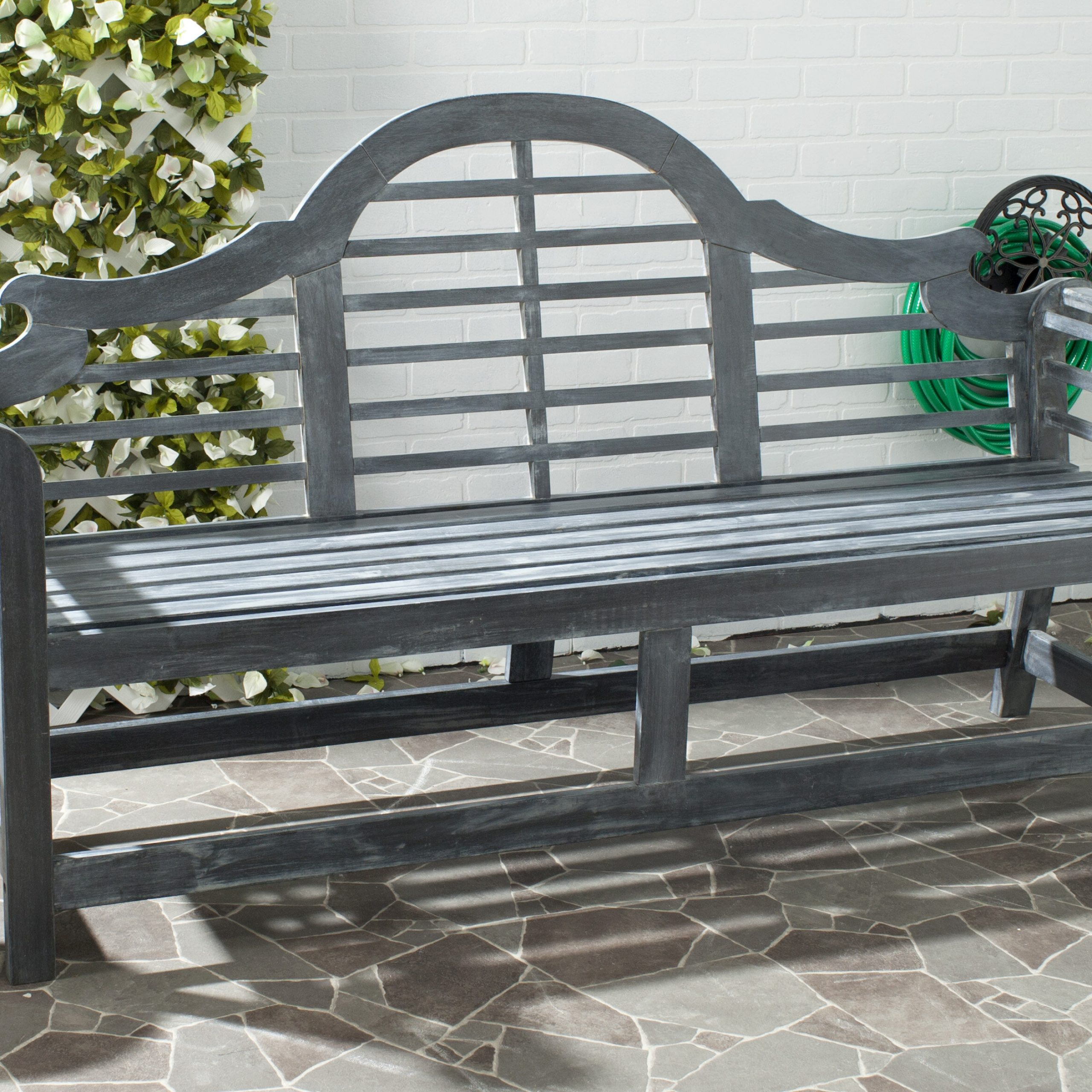 Lemire Iron Garden Bench For Strasburg Blossoming Decorative Iron Garden Benches (View 6 of 25)