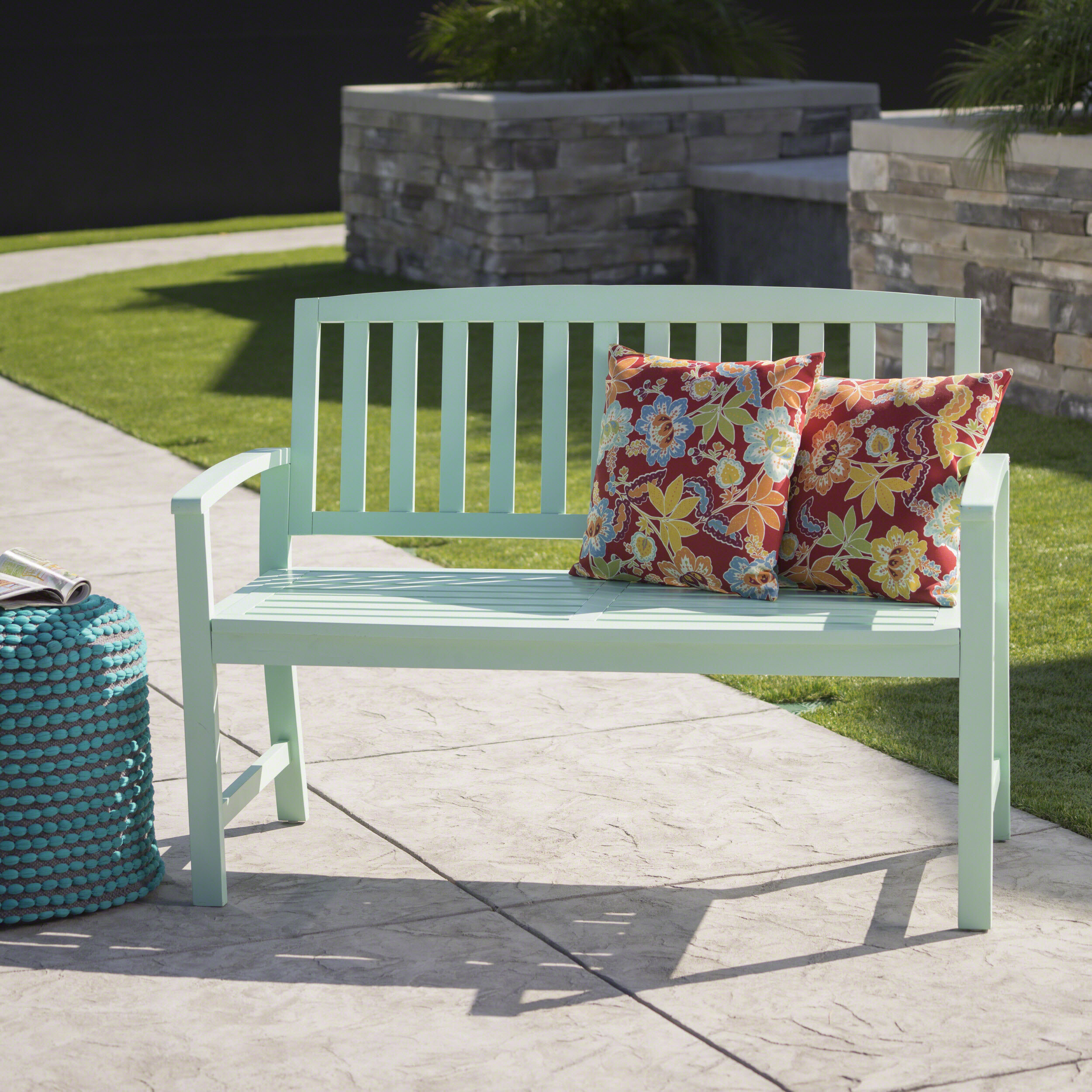 Leora Wooden Garden Bench Regarding Shelbie Wooden Garden Benches (View 17 of 25)