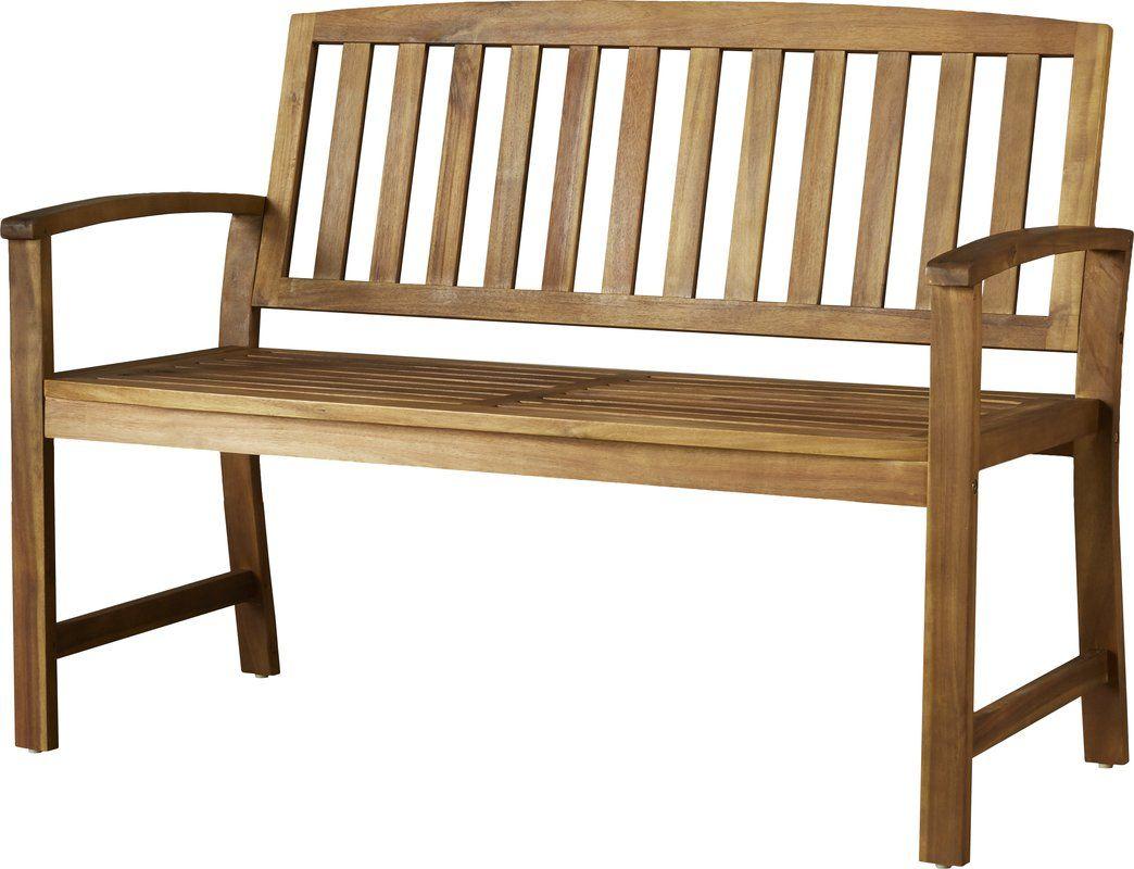 Leora Wooden Garden Bench | Wooden Garden Benches, Metal In Leora Wooden Garden Benches (View 3 of 25)