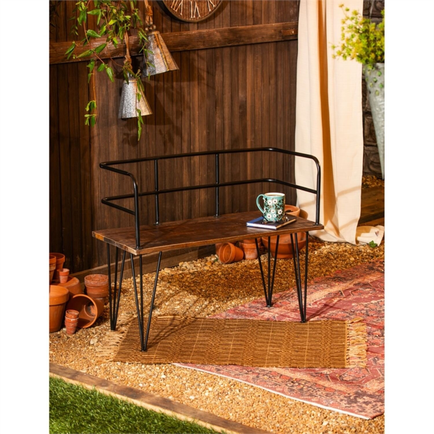 Lewis Iron Garden Bench With Ossu Iron Picnic Benches (View 10 of 25)