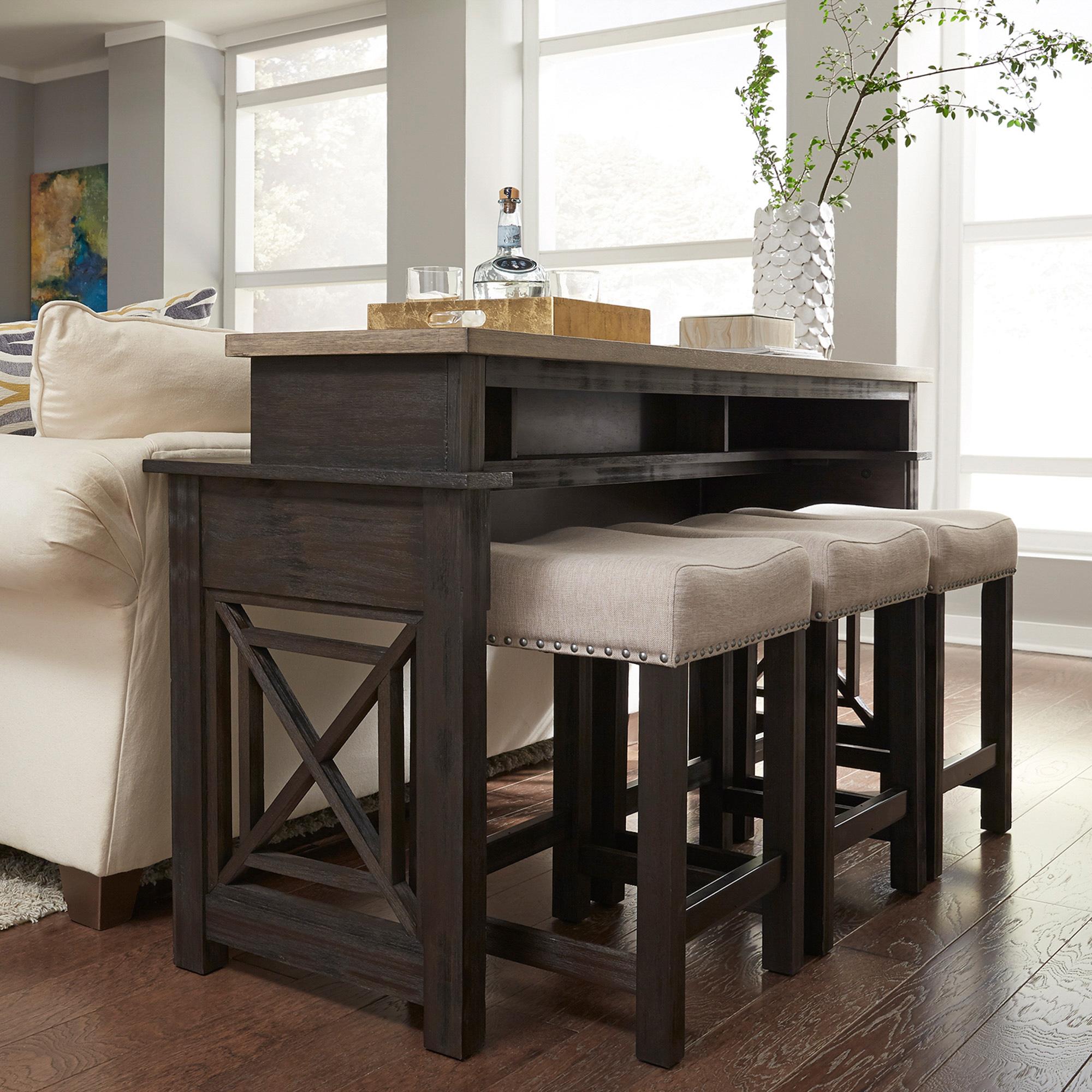 Liberty Furnitureliberty Furniture | Heatherbrook Charcoal For Arista Ceramic Garden Stools (View 20 of 25)