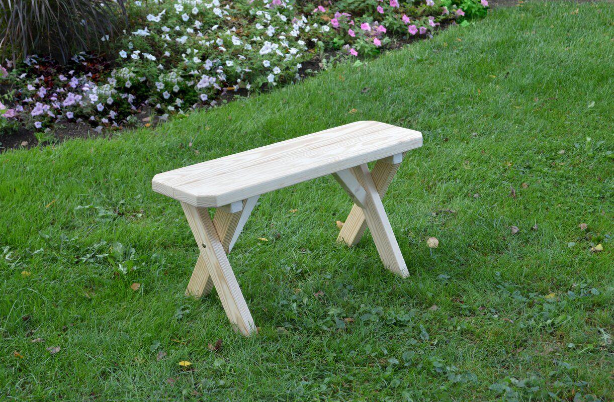 Loon Peak Rodman Wood Picnic Bench   Wayfair In 2020 Intended For Skoog Chevron Wooden Garden Benches (View 16 of 25)
