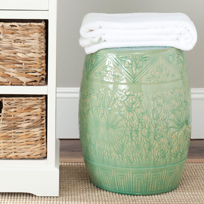 Lotus Lime Indoor/Outdoor Garden Stool | Deco Inside Renee Porcelain Garden Stools (View 24 of 25)