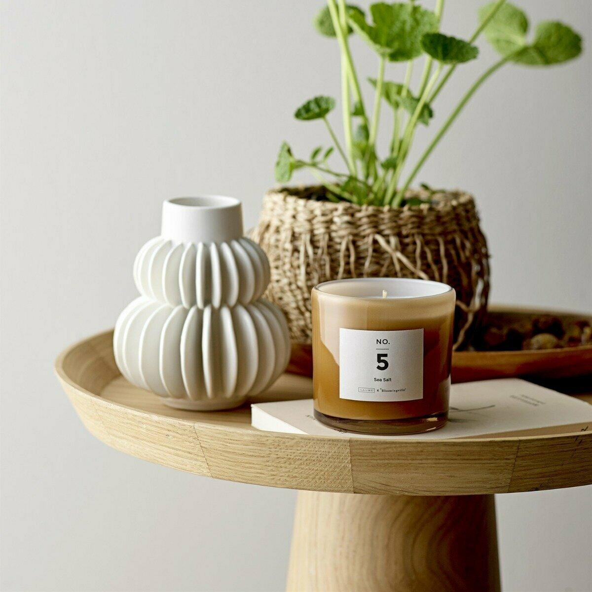 Luana Oak Side Table – Bloomingville In Oakside Ceramic Garden Stools (View 25 of 25)