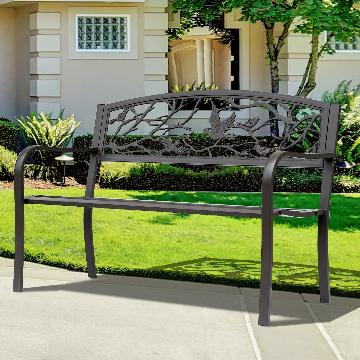 Featured Image of Madeline Vintage Bird Cast Iron Garden Benches
