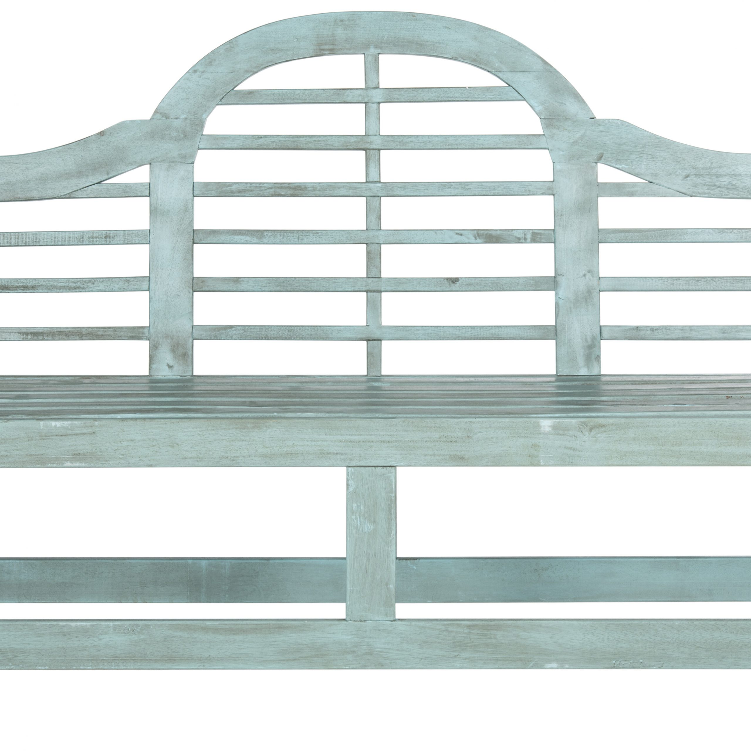 Mae Wood Garden Bench For Zev Blue Fish Metal Garden Benches (View 2 of 25)