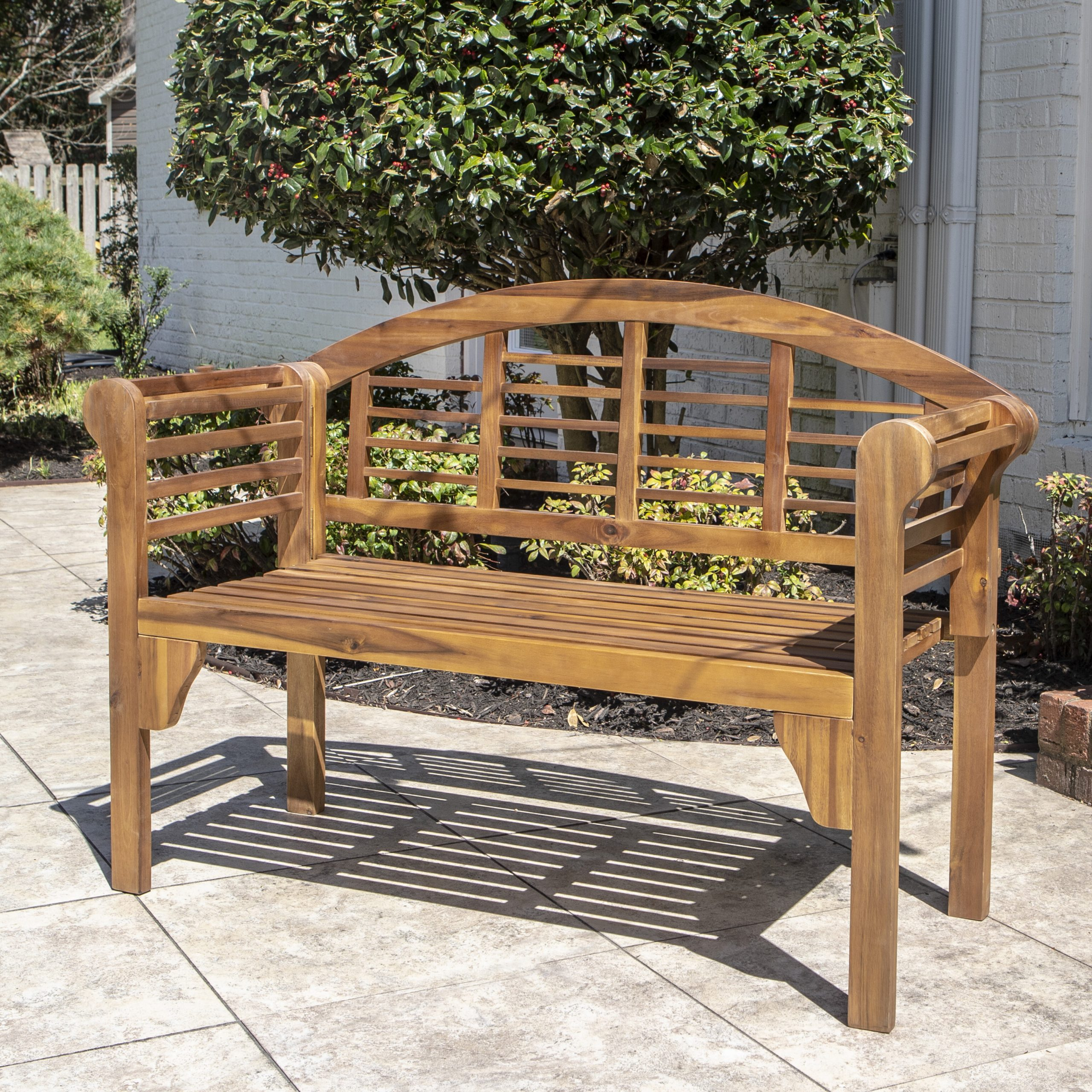 Mae Wood Garden Bench Intended For Manchester Wooden Garden Benches (View 16 of 25)