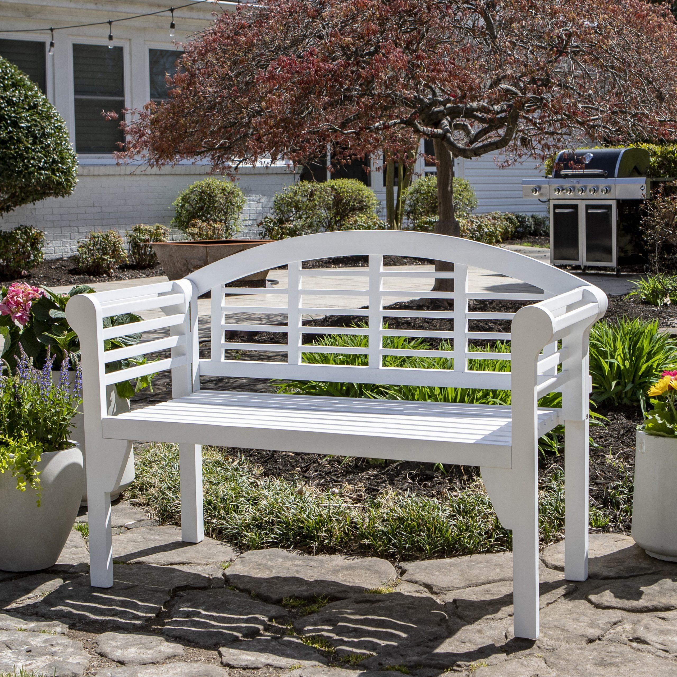 Mae Wood Garden Bench Throughout Coleen Outdoor Teak Garden Benches (View 23 of 25)