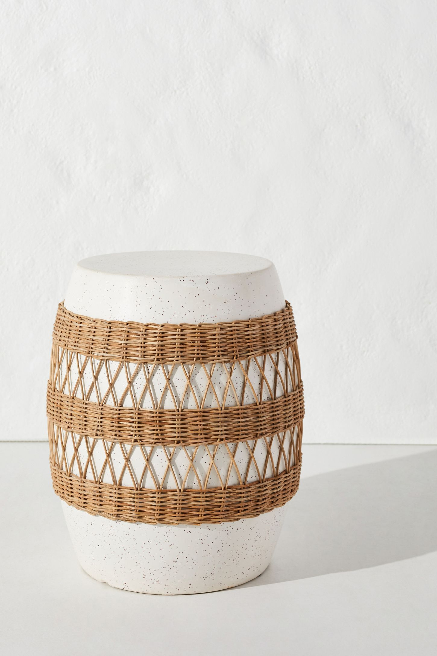 Maggie Rattan Wrapped Stool | Ceramic Stool, Rattan Rocking With Regard To Svendsen Ceramic Garden Stools (View 17 of 25)