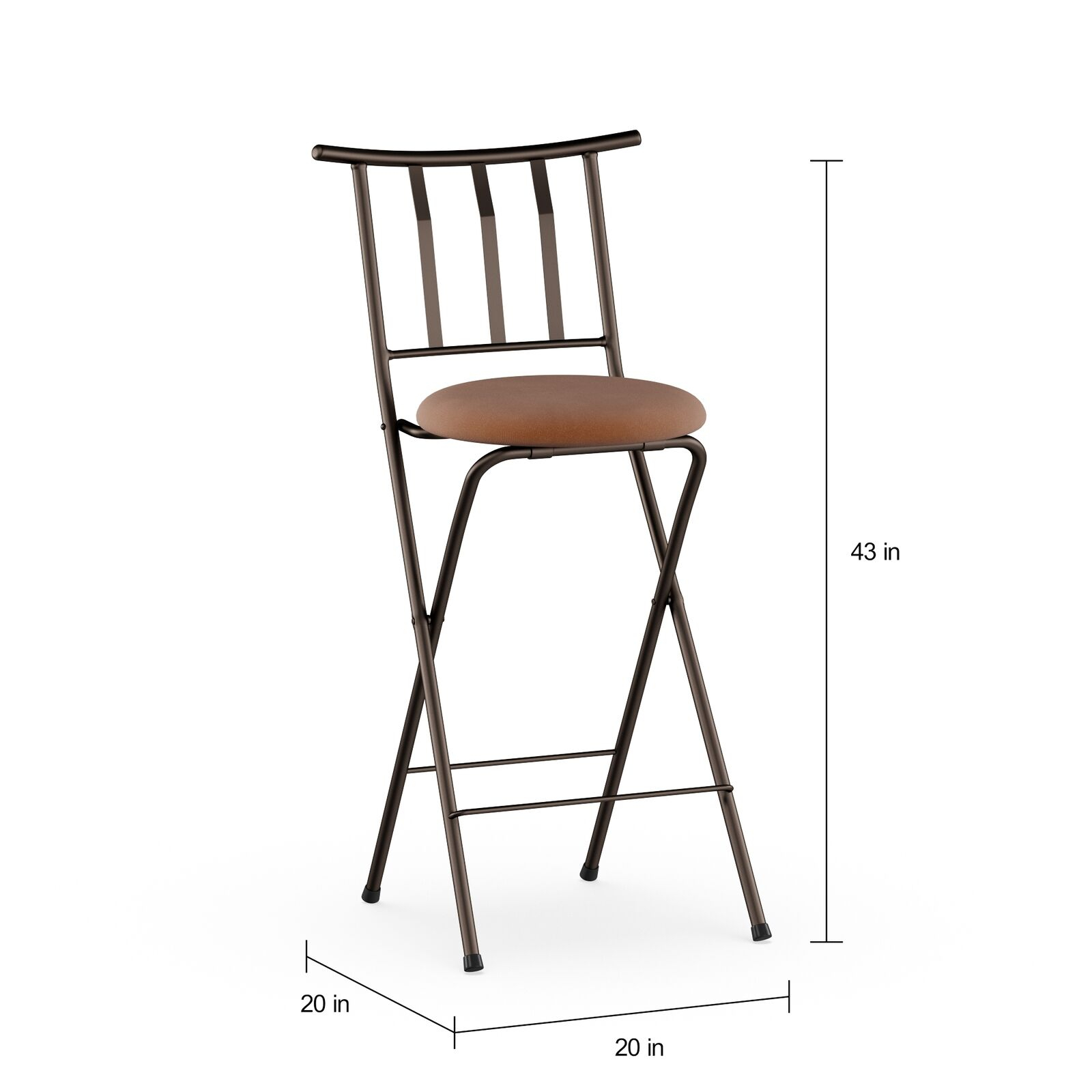 "Mainstays Slat Back Folding 30"" Bronze Bar Stool Multiple Colors Throughout Tillia Ceramic Garden Stools (View 15 of 25)"