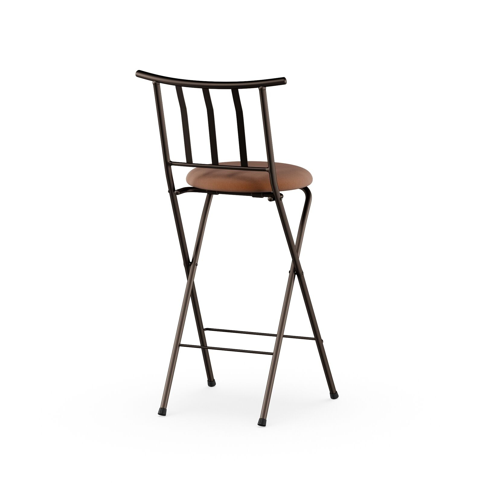 "Mainstays Slat Back Folding 30"" Bronze Bar Stool Multiple Colors Throughout Tillia Ceramic Garden Stools (View 8 of 25)"