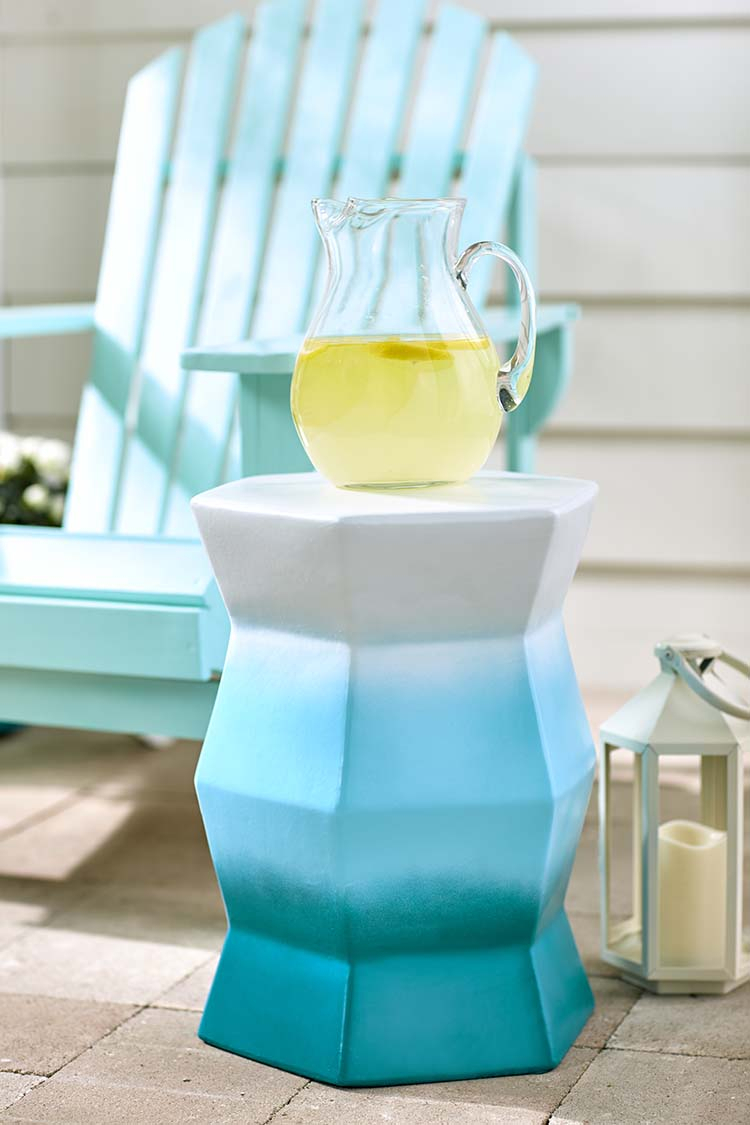 Make This Ombré Side Table And Turn Your Patio Into Paradise Within Svendsen Ceramic Garden Stools (View 23 of 25)