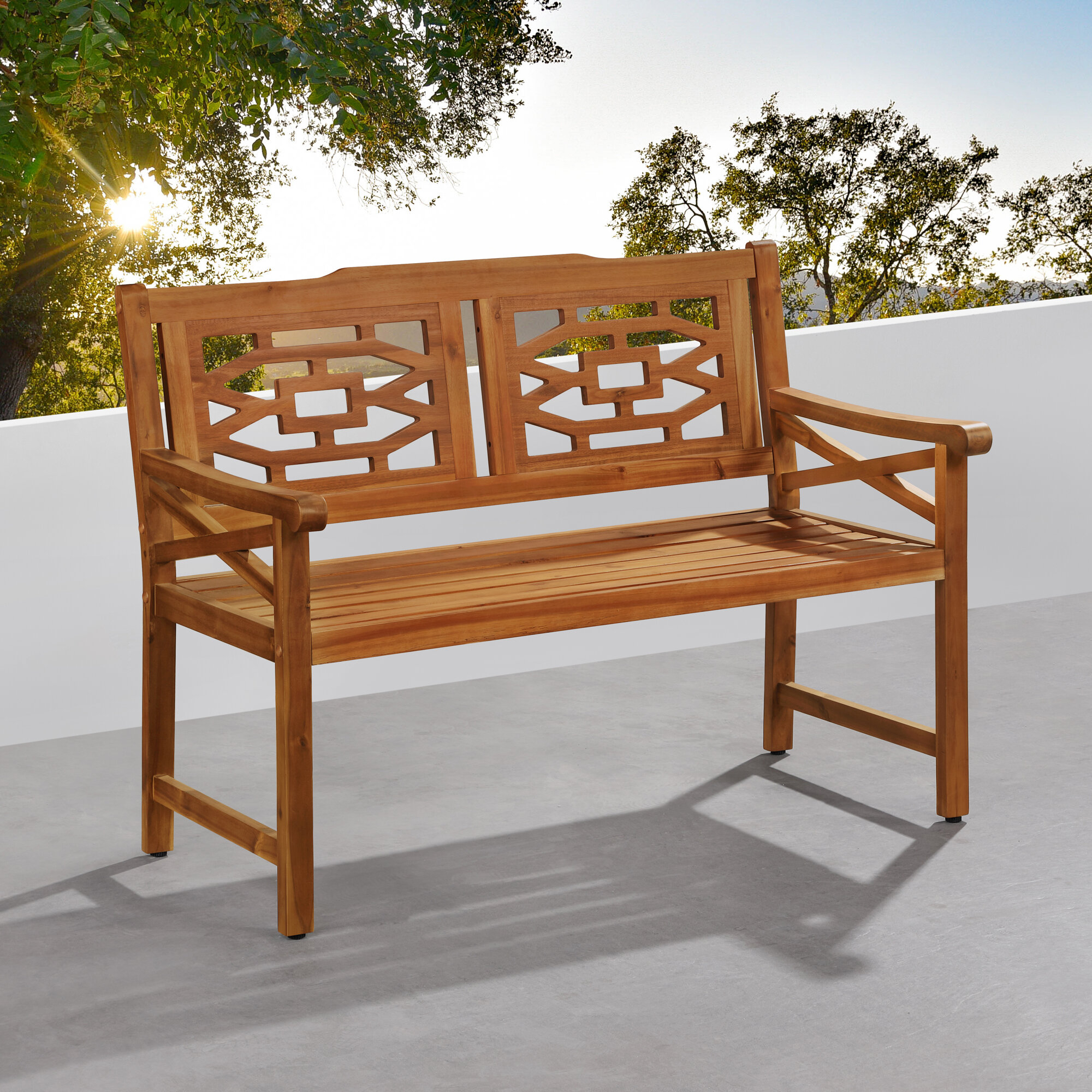 Malay Wooden Garden Bench Intended For Skoog Chevron Wooden Garden Benches (View 19 of 25)