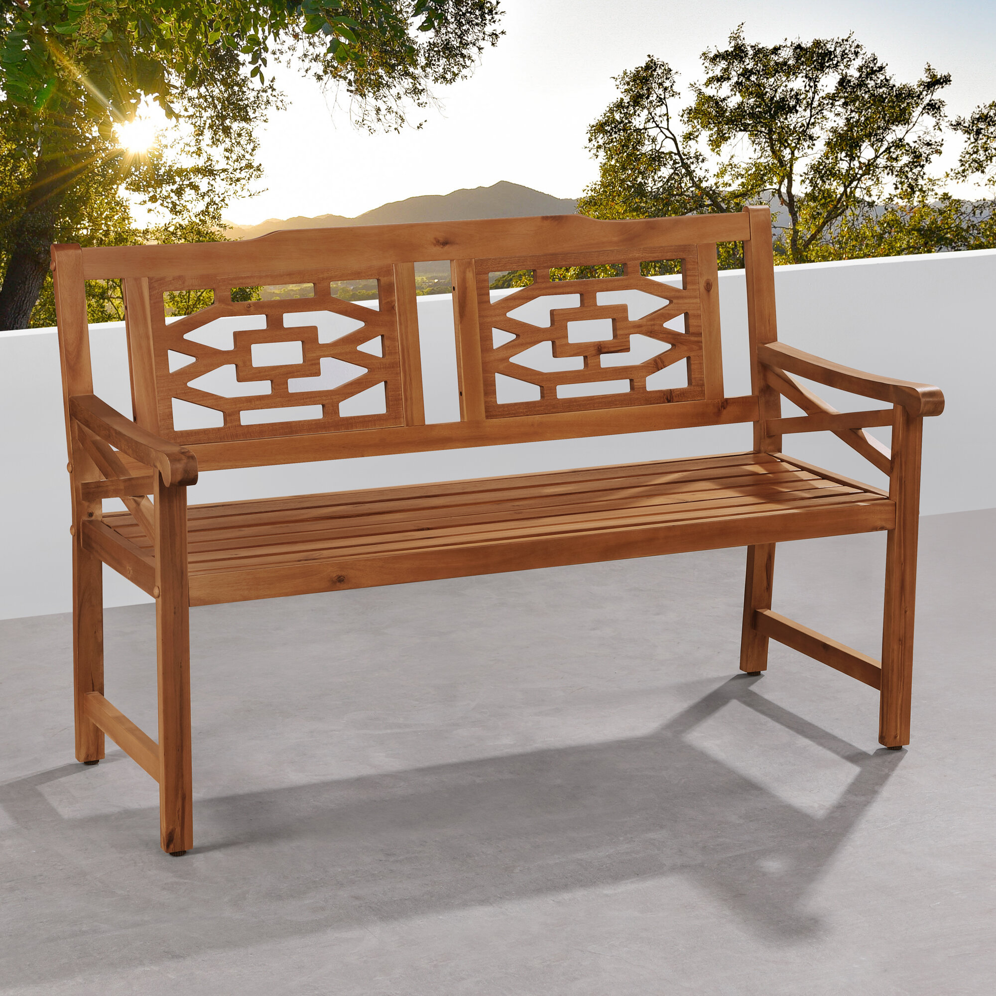 Malay Wooden Garden Bench Throughout Ahana Wooden Garden Benches (View 4 of 25)