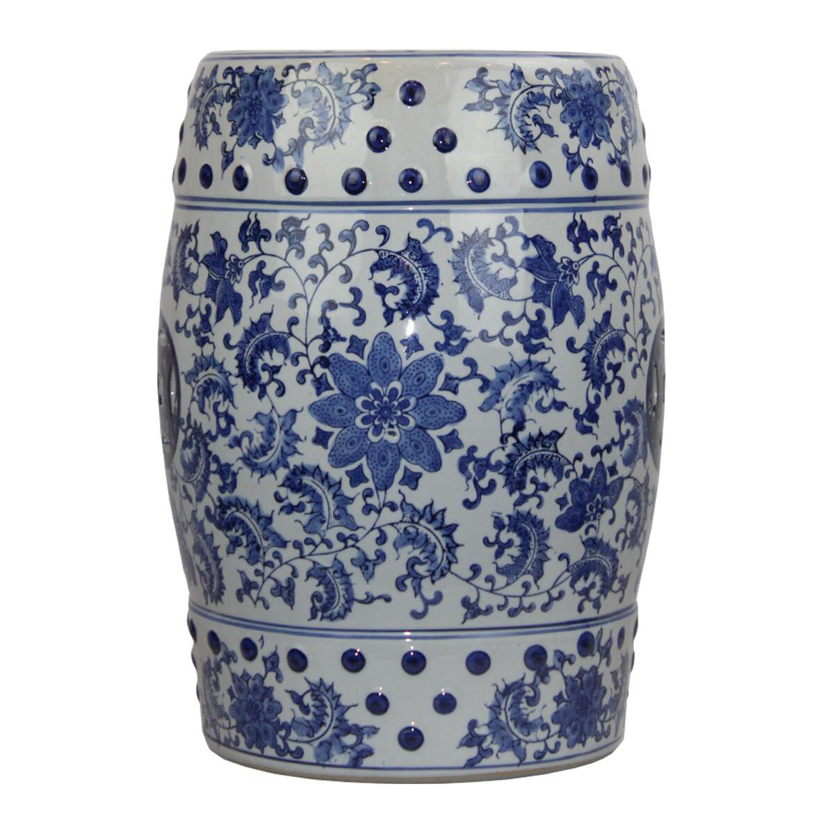 Malcom Modern Contemporary Floral Porcelain Garden Stool In Wiese Cherry Blossom Ceramic Garden Stools (View 10 of 25)