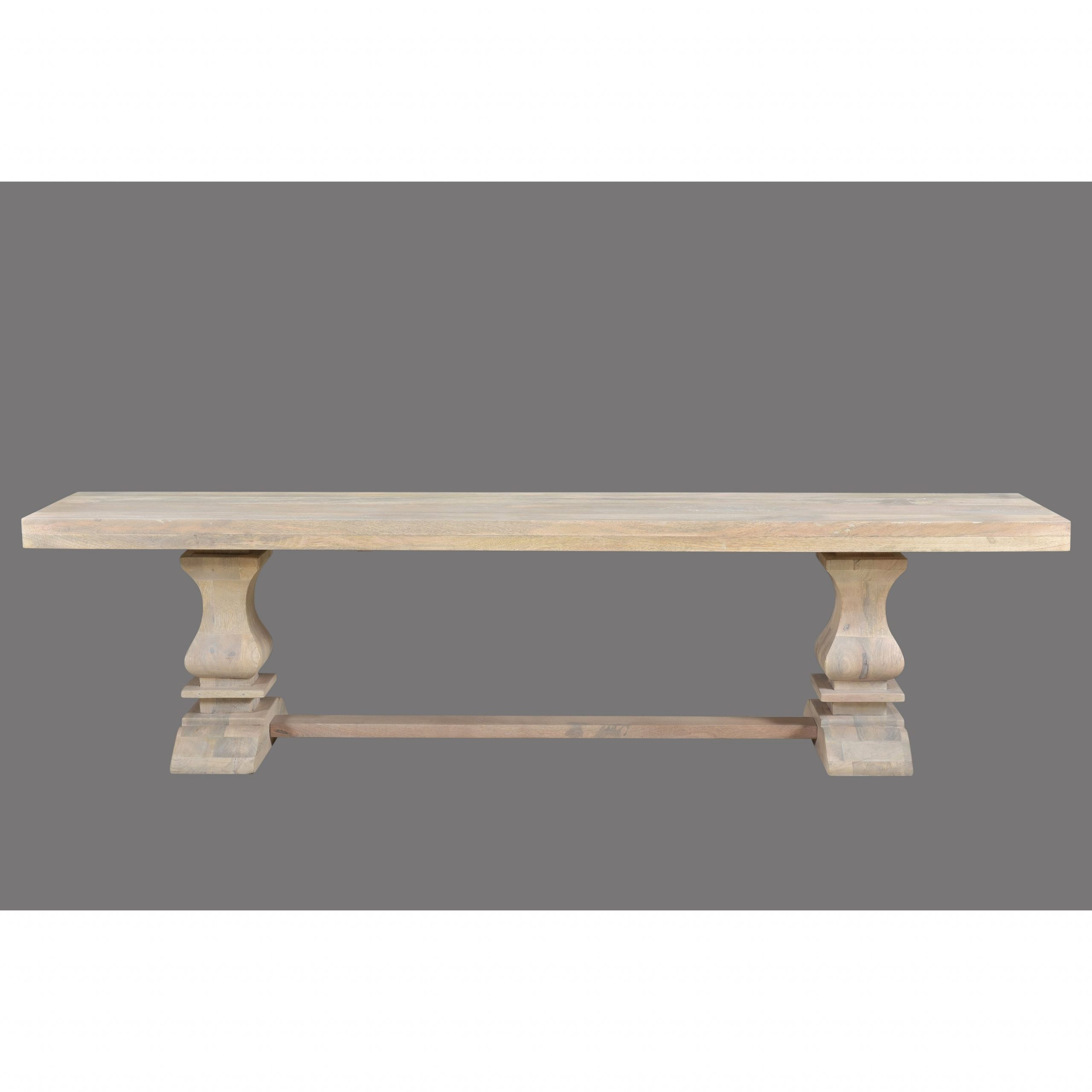 Maliyah Pedestal Wood Bench – 18'' H X 72'' W X 15'' D Pertaining To Maliyah Wooden Garden Benches (View 10 of 25)