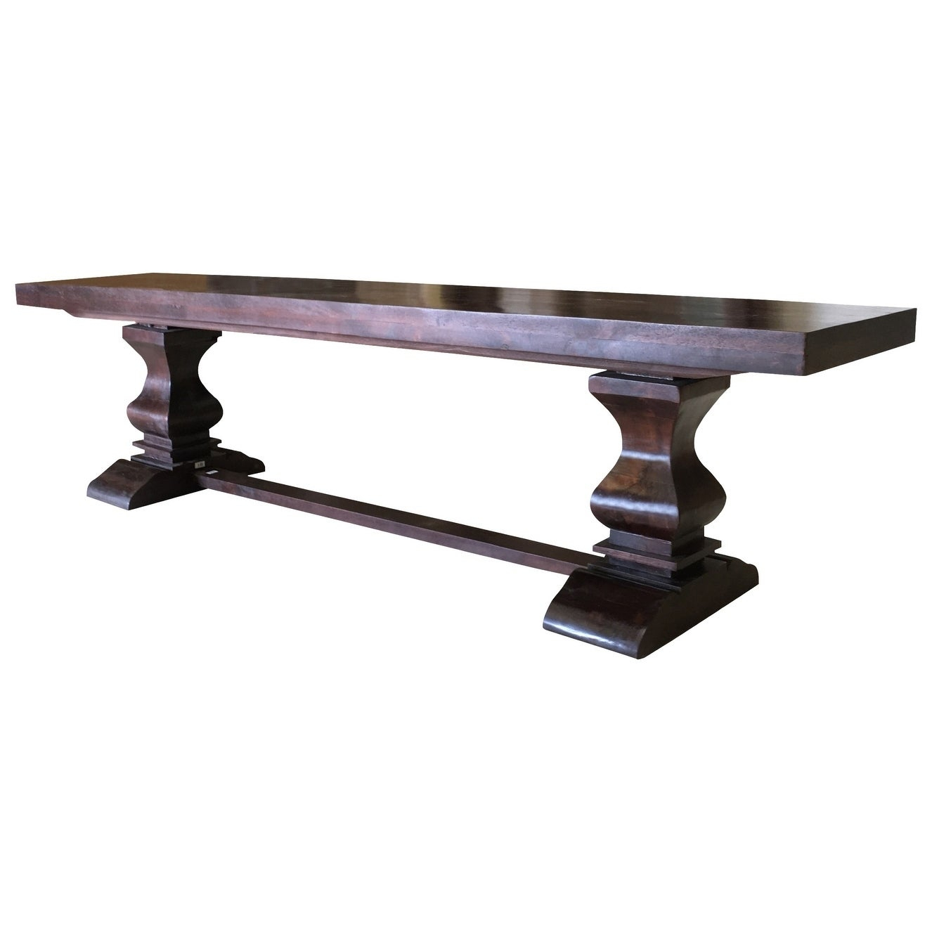 Maliyah Pedestal Wood Bench – 18'' H X 80'' W X 15'' D In Maliyah Wooden Garden Benches (View 7 of 25)