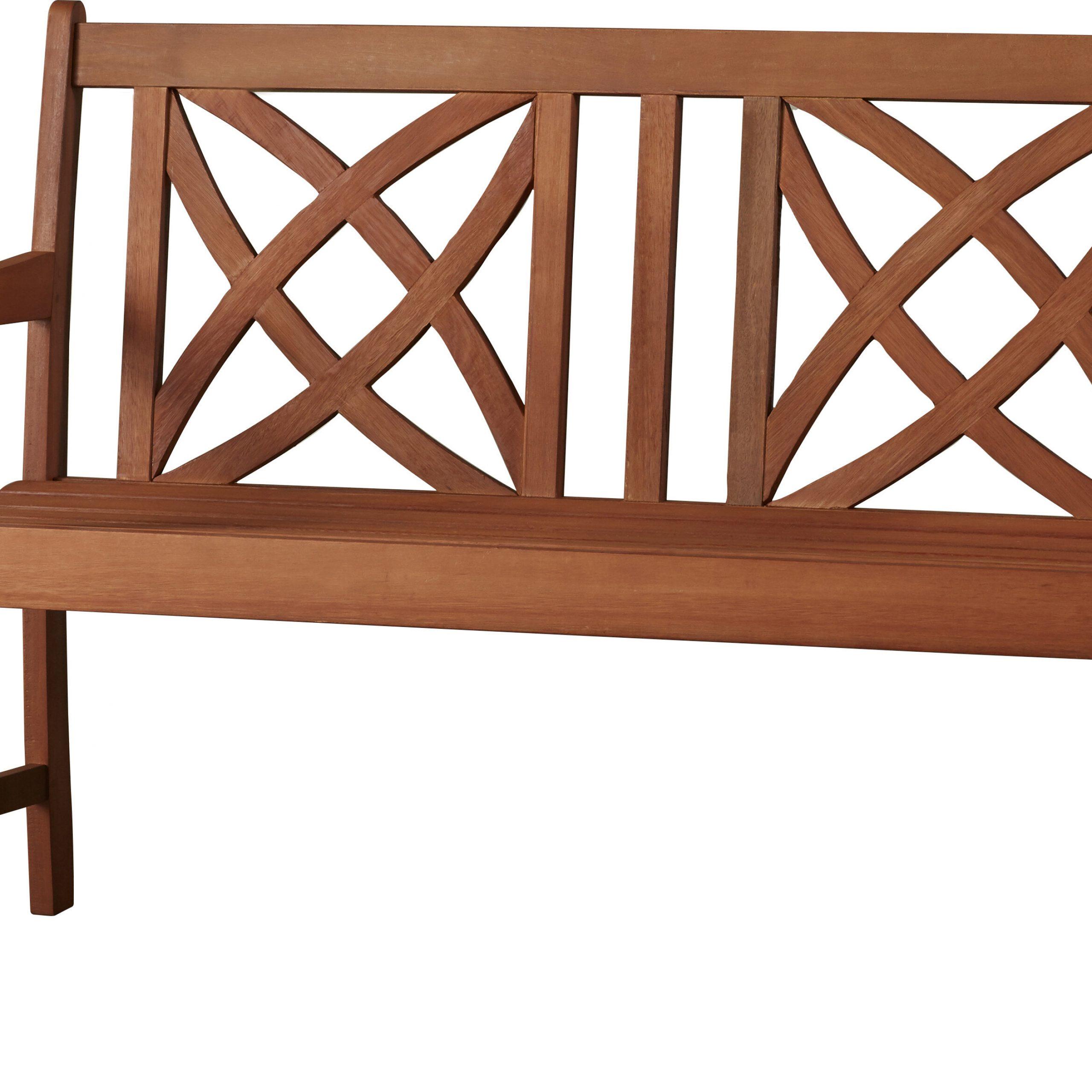 Maliyah Solid Wood Garden Bench Regarding Avoca Wood Garden Benches (View 3 of 25)