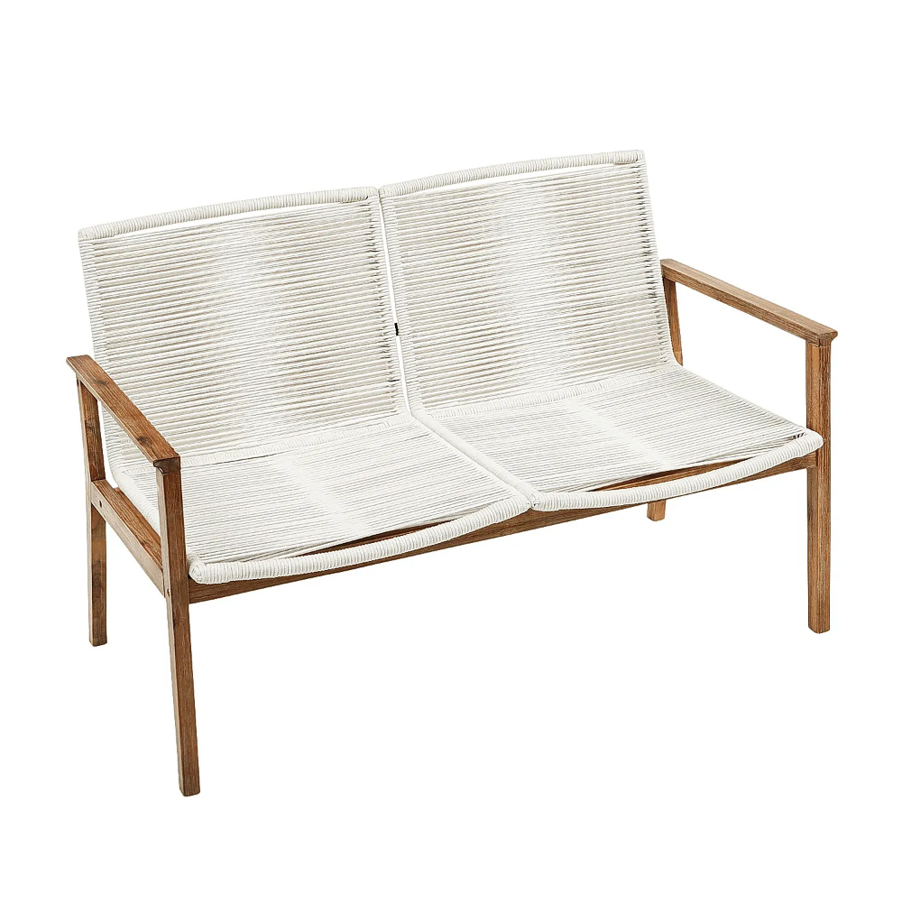 Malta Ivory Rope Settee | Pier 1 In 2020 | Furniture Design Pertaining To Guyapi Garden Benches (View 15 of 25)