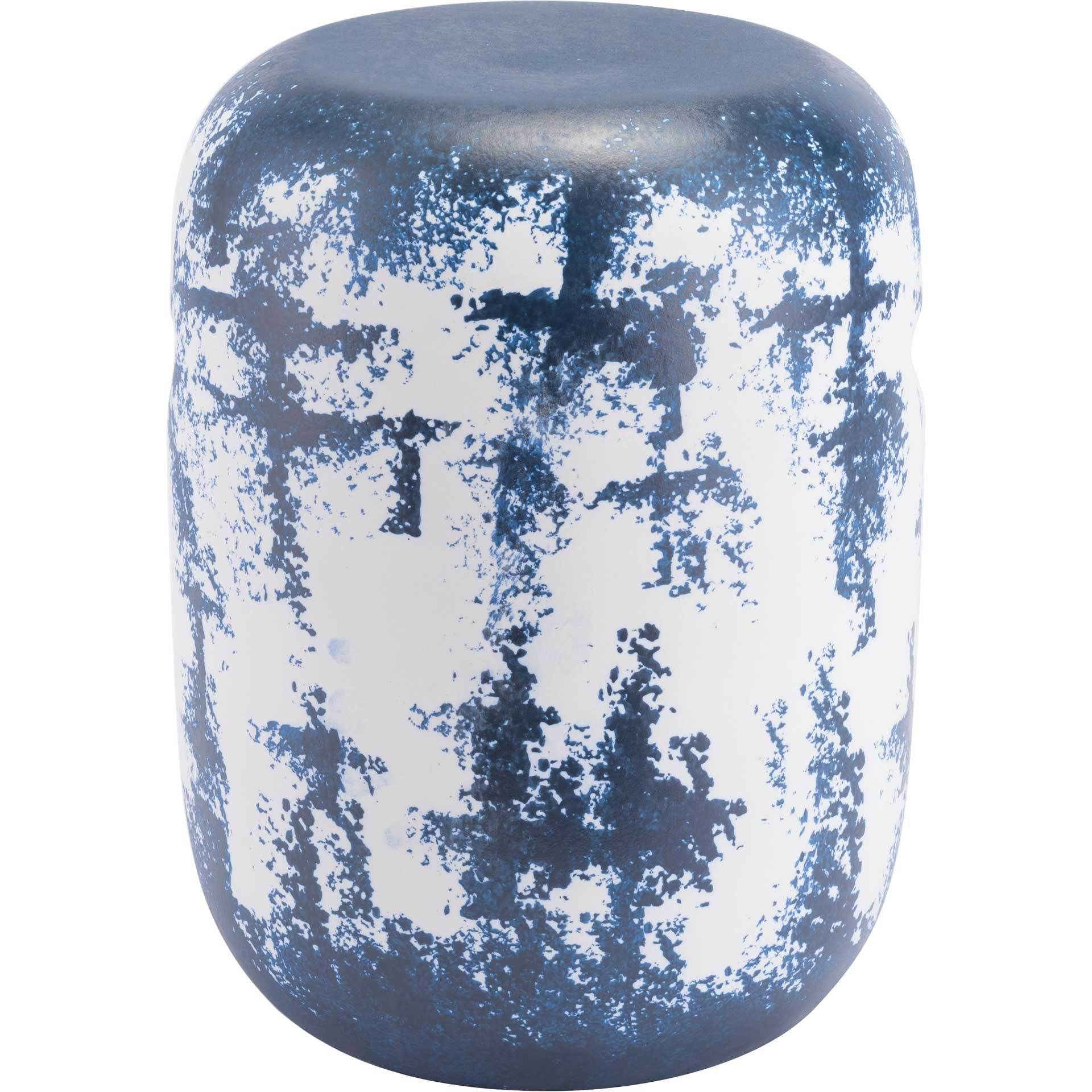 Mar Garden Seat White/Blue | Garden Stool, Outdoor Stools With Winterview Garden Stools (View 17 of 25)