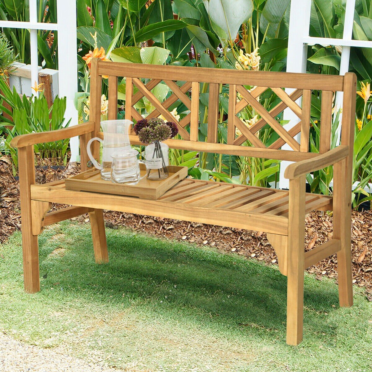 Maulik Wooden Garden Bench Within Maliyah Wooden Garden Benches (View 3 of 25)