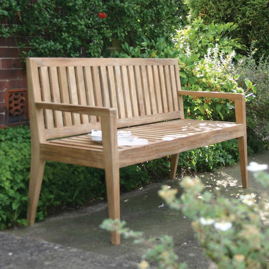 Menton Outdoor Bench Within Hampstead Teak Garden Benches (View 17 of 25)